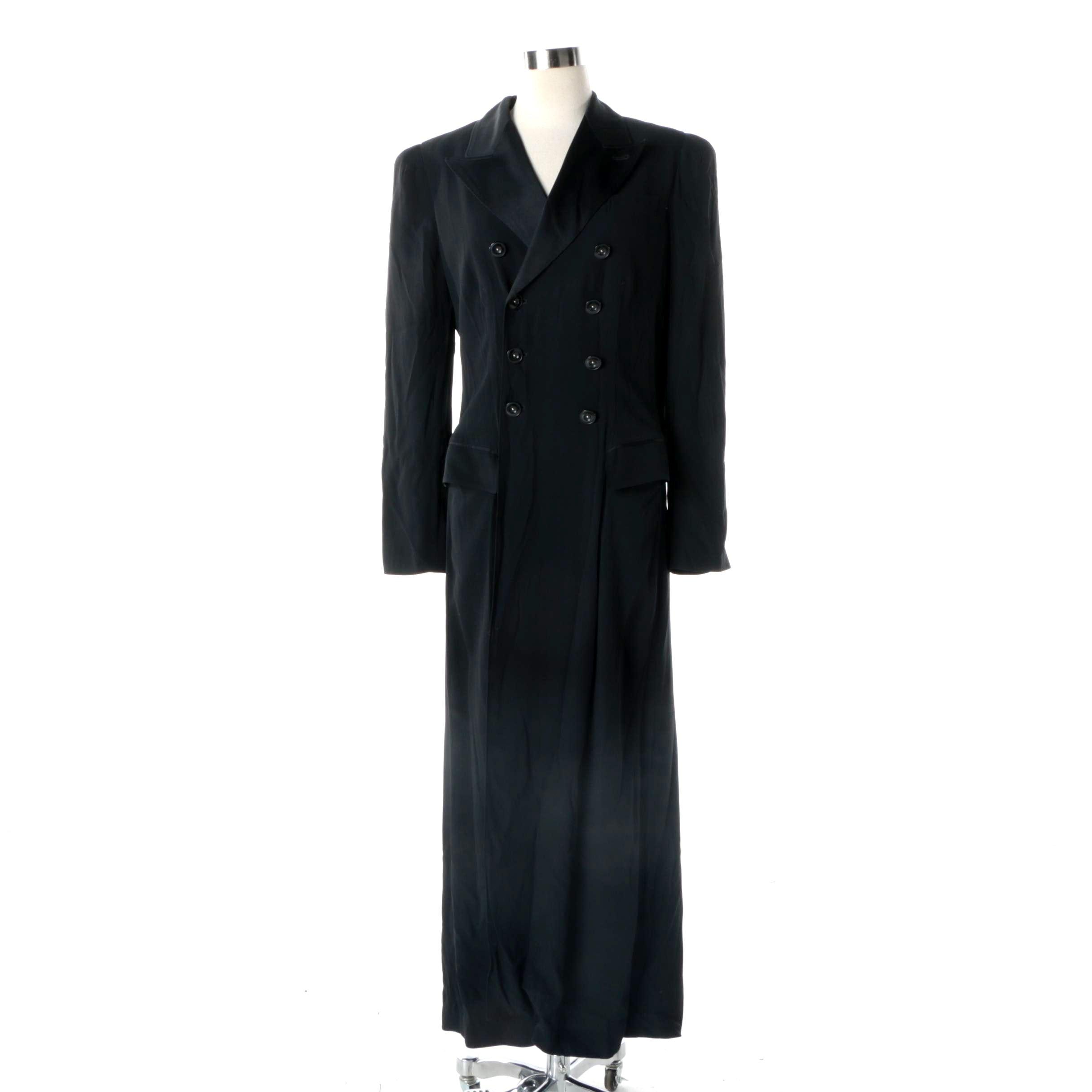 Jean Paul Gaultier Double-Breasted Black Coat