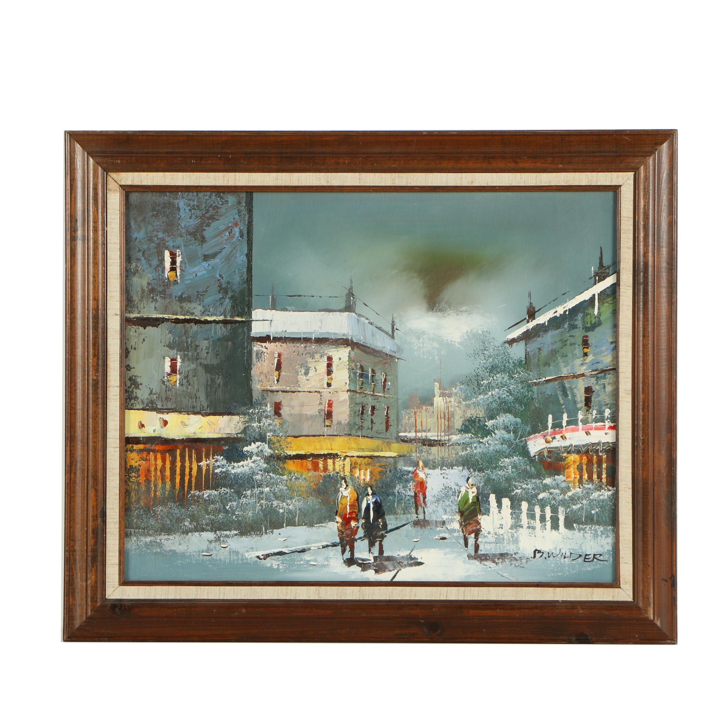 B. Wilder Oil Painting of Village Square