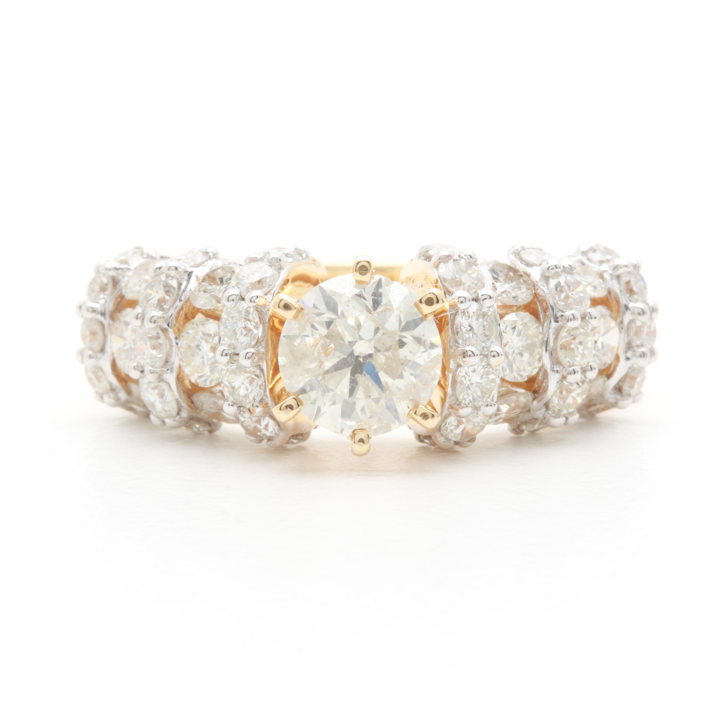 14K Yellow Gold 2.61 CTW Diamond Ring