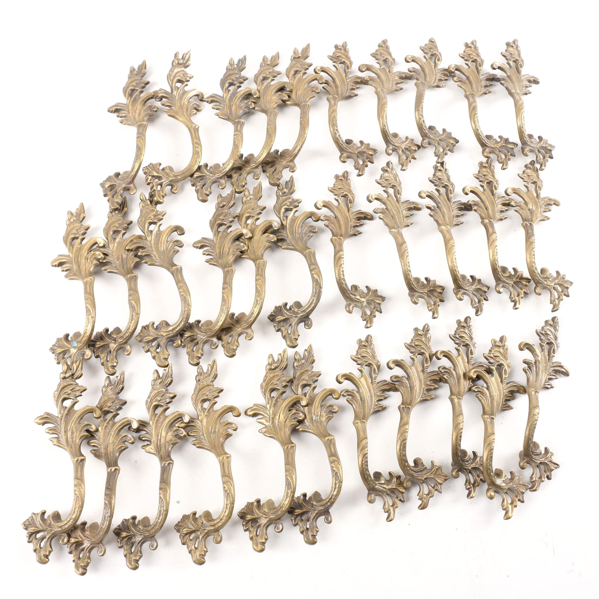 Contemporary Brass Tone Metal Handles