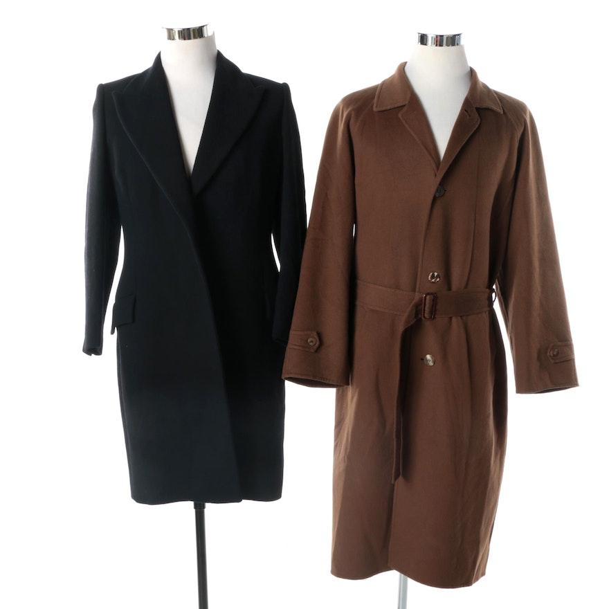 0af2740379fd4 Men's Salvatore Ferragamo Cashmere Coat and Women's Versace Classic Wool  Coat ...