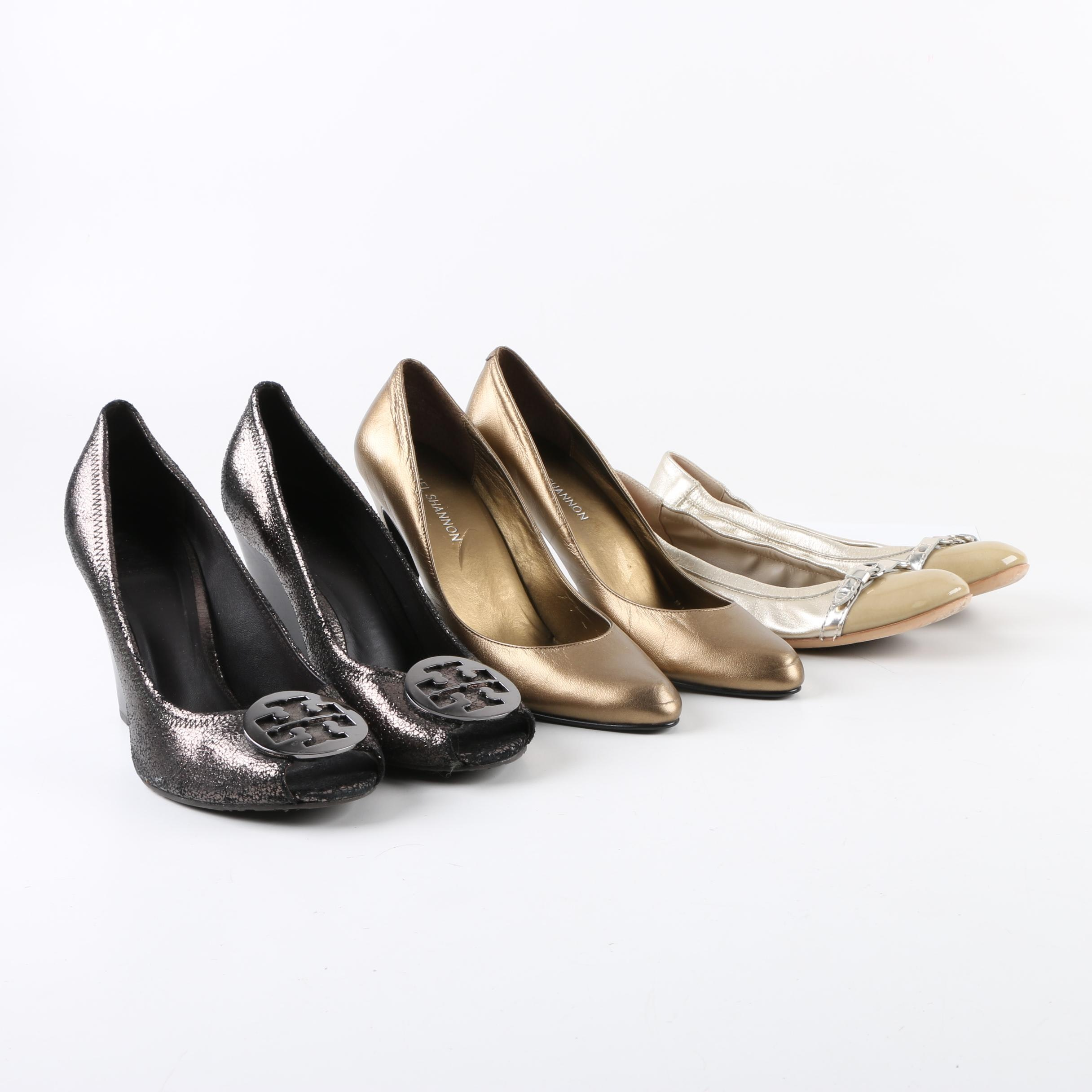 Women's Leather Pumps and Flats Including Tory Burch and Michael Shannon