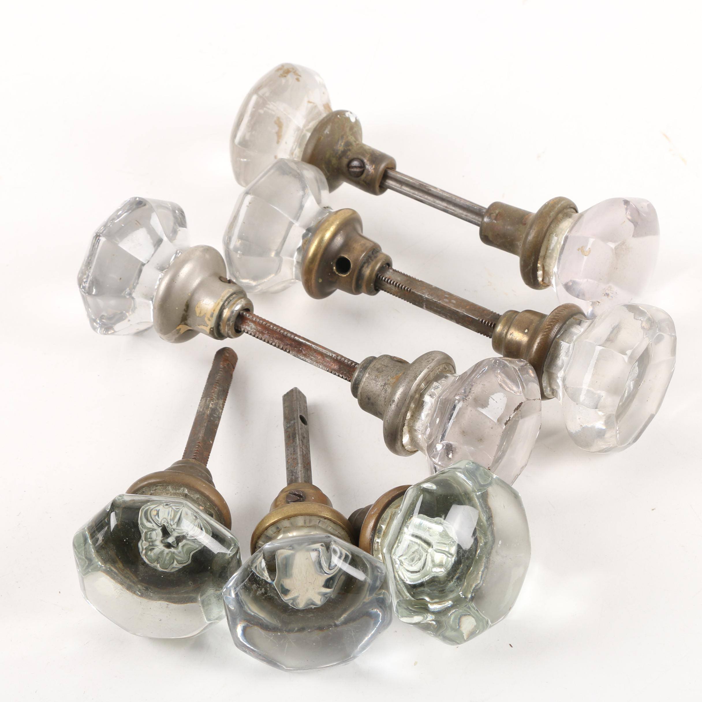 Vintage Glass Door Knobs