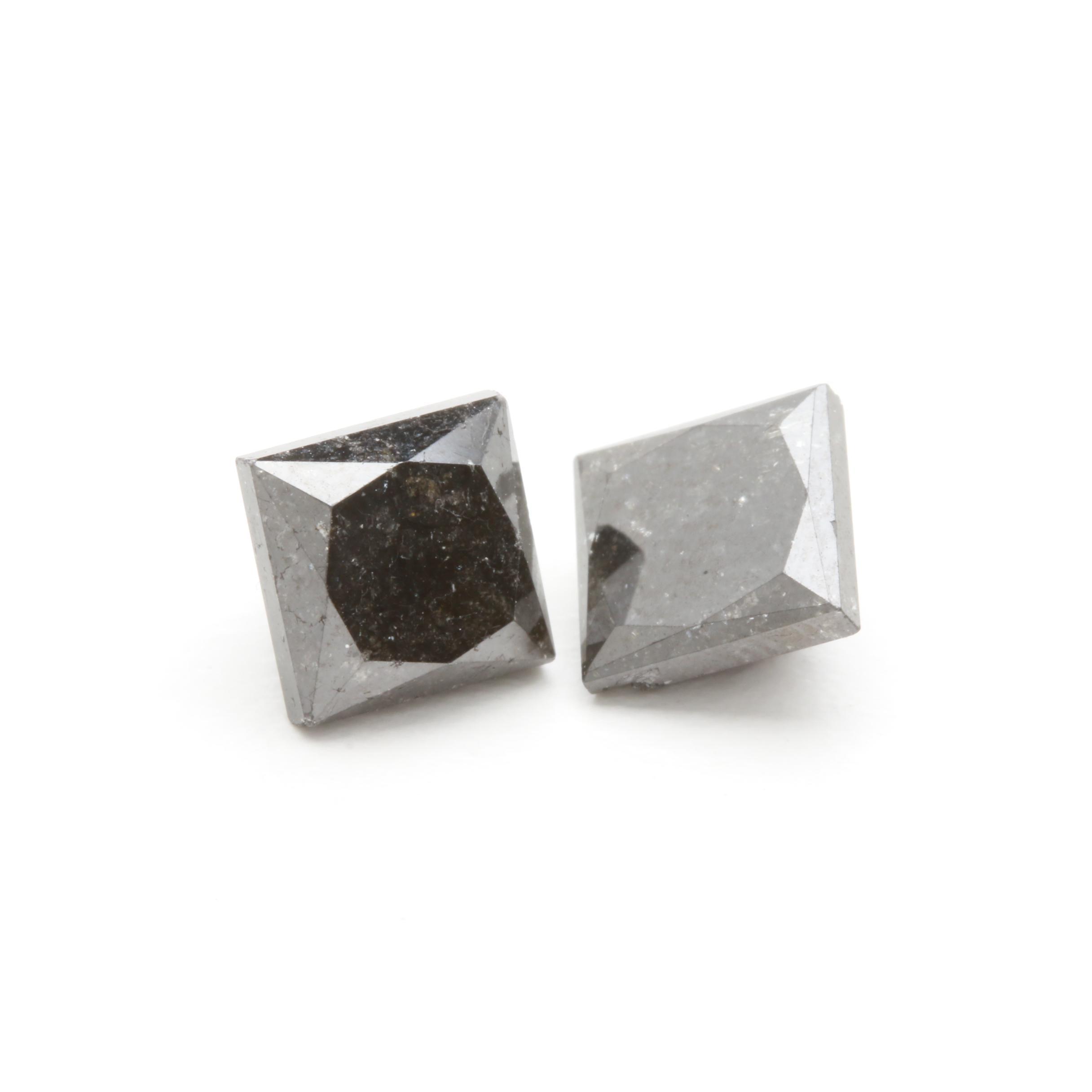 Loose 7.12 CTW Black Diamonds