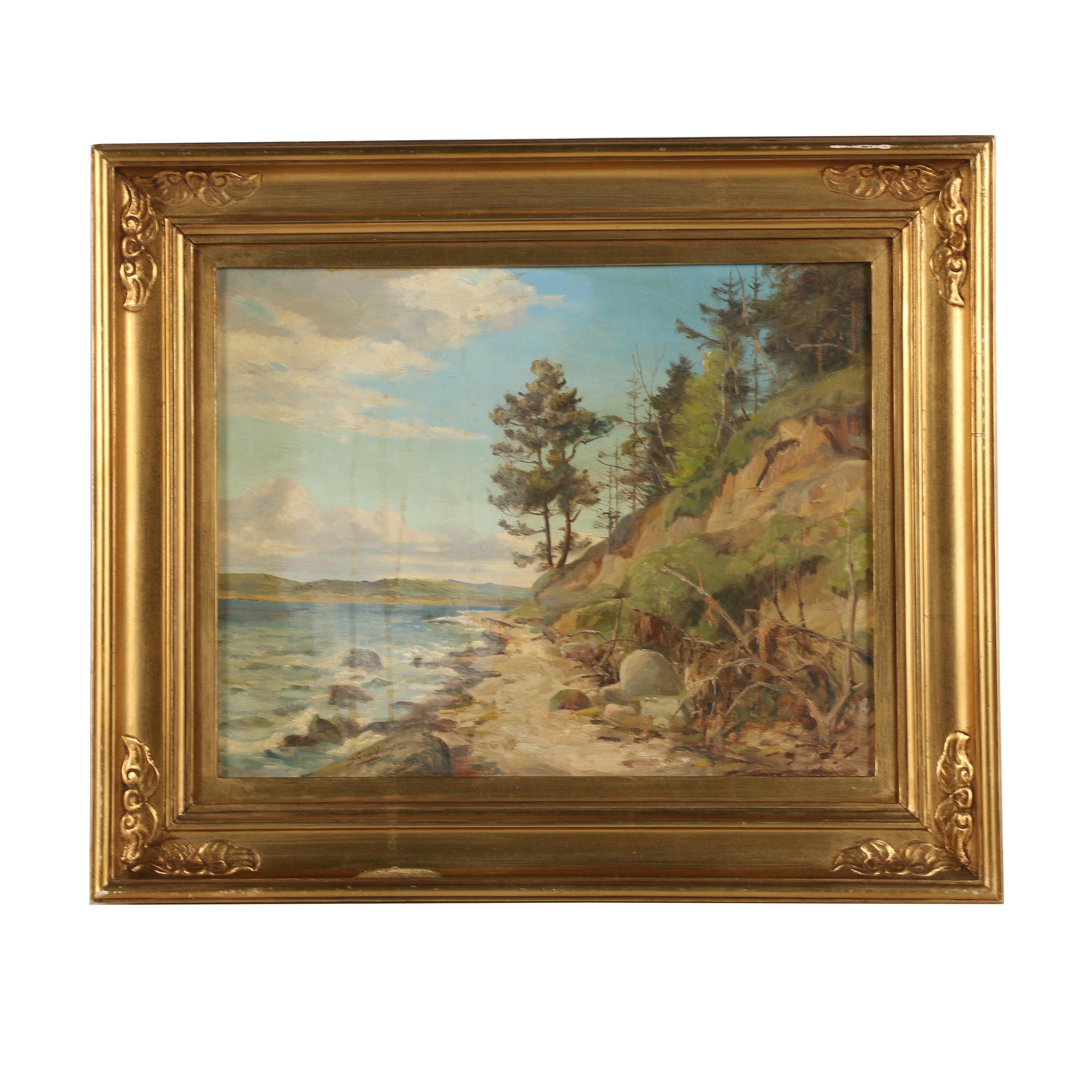 Harald Julius Niels Pryn Oil Painting