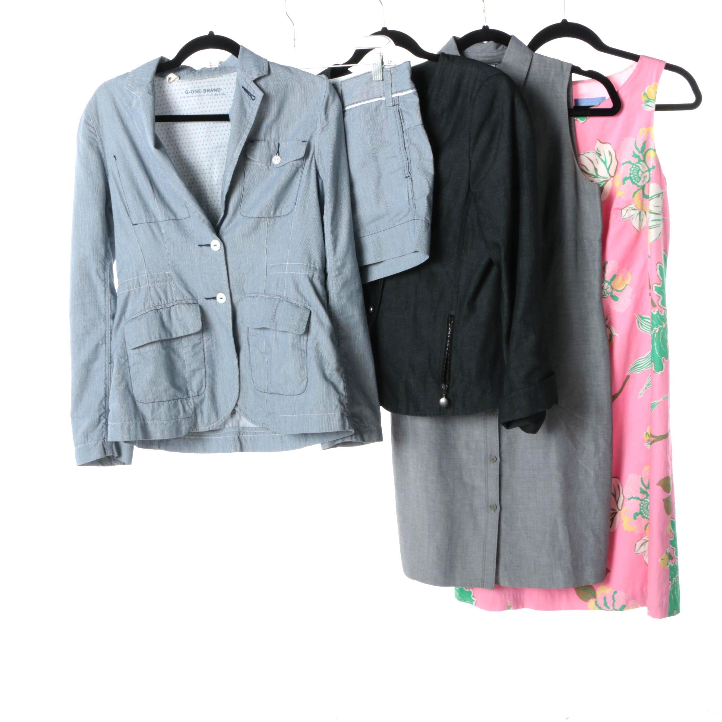 Women's Casual Short Suit, Blazer and Dresses