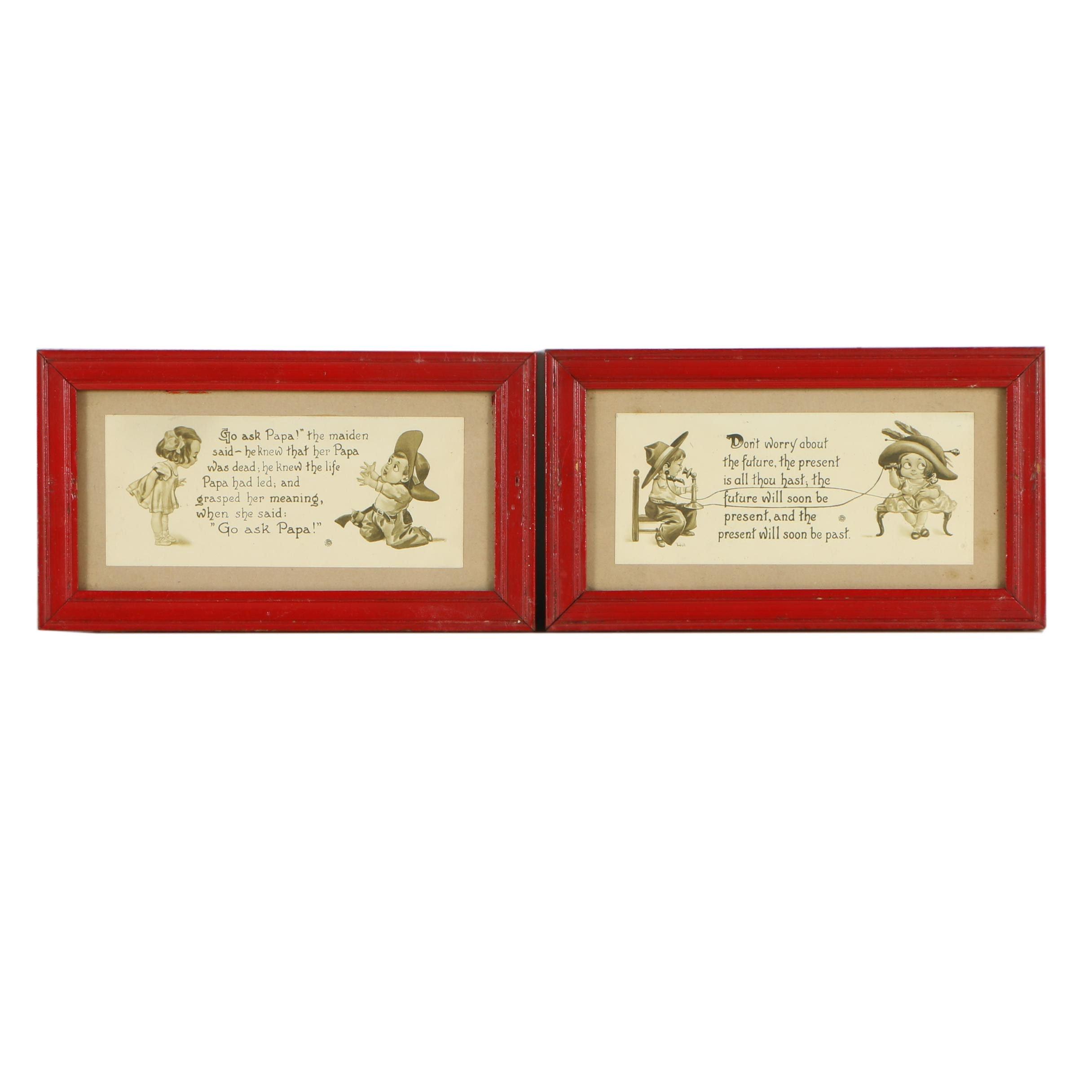 Two Vintage Collotype Prints