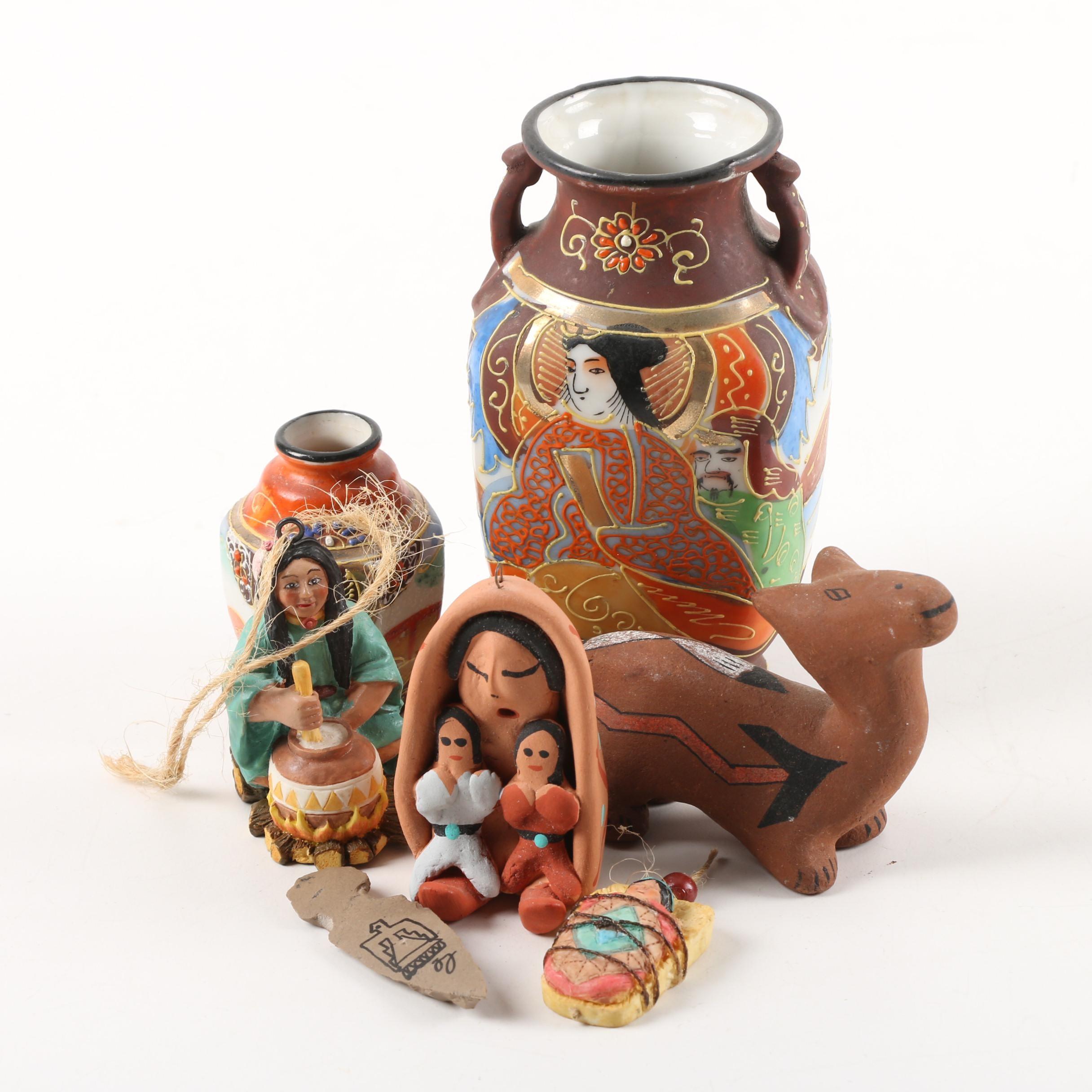 Vintage Porcelain Vases, Ceramic Figurines and Ornaments