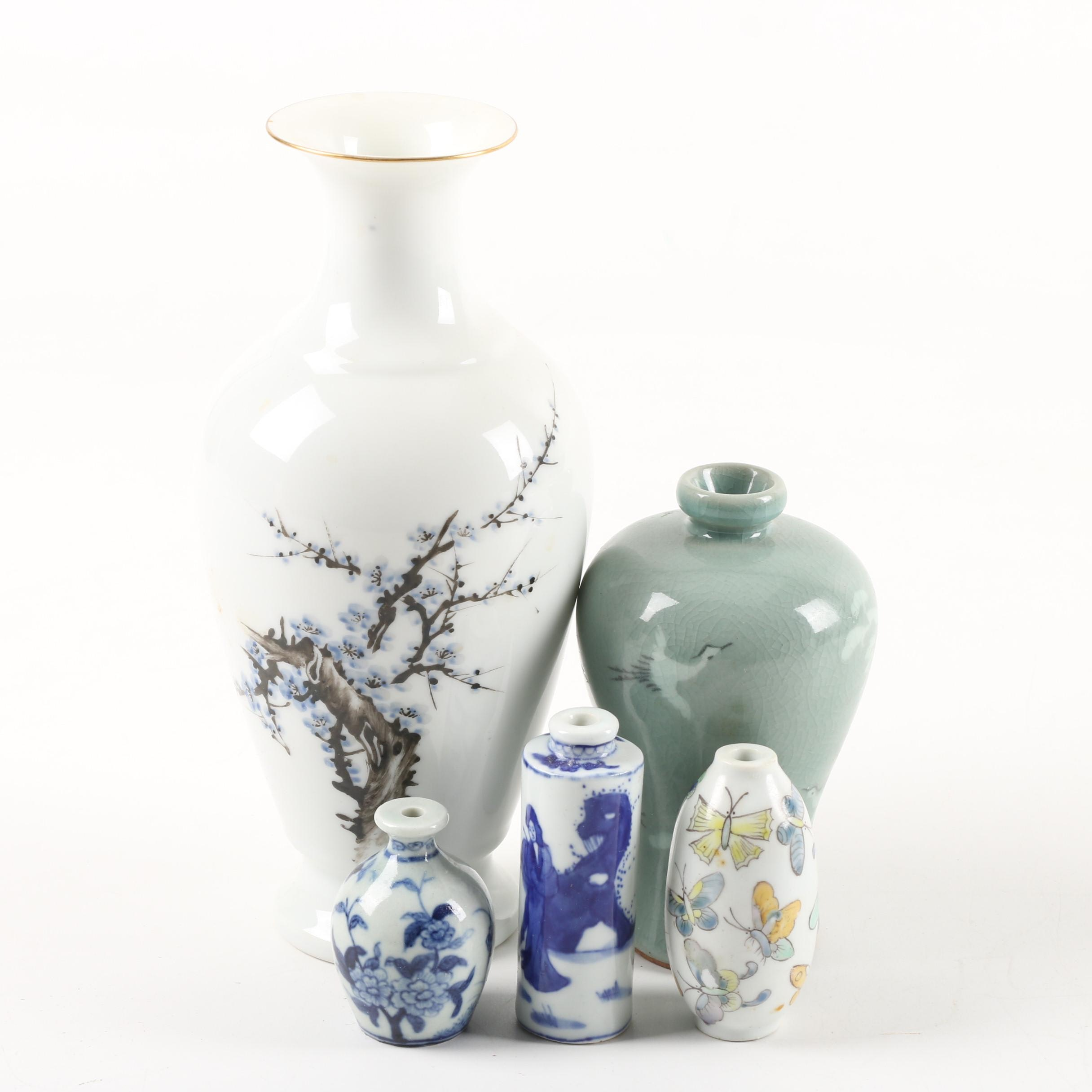 Vintage Asian Porcelain and Ceramic Vases