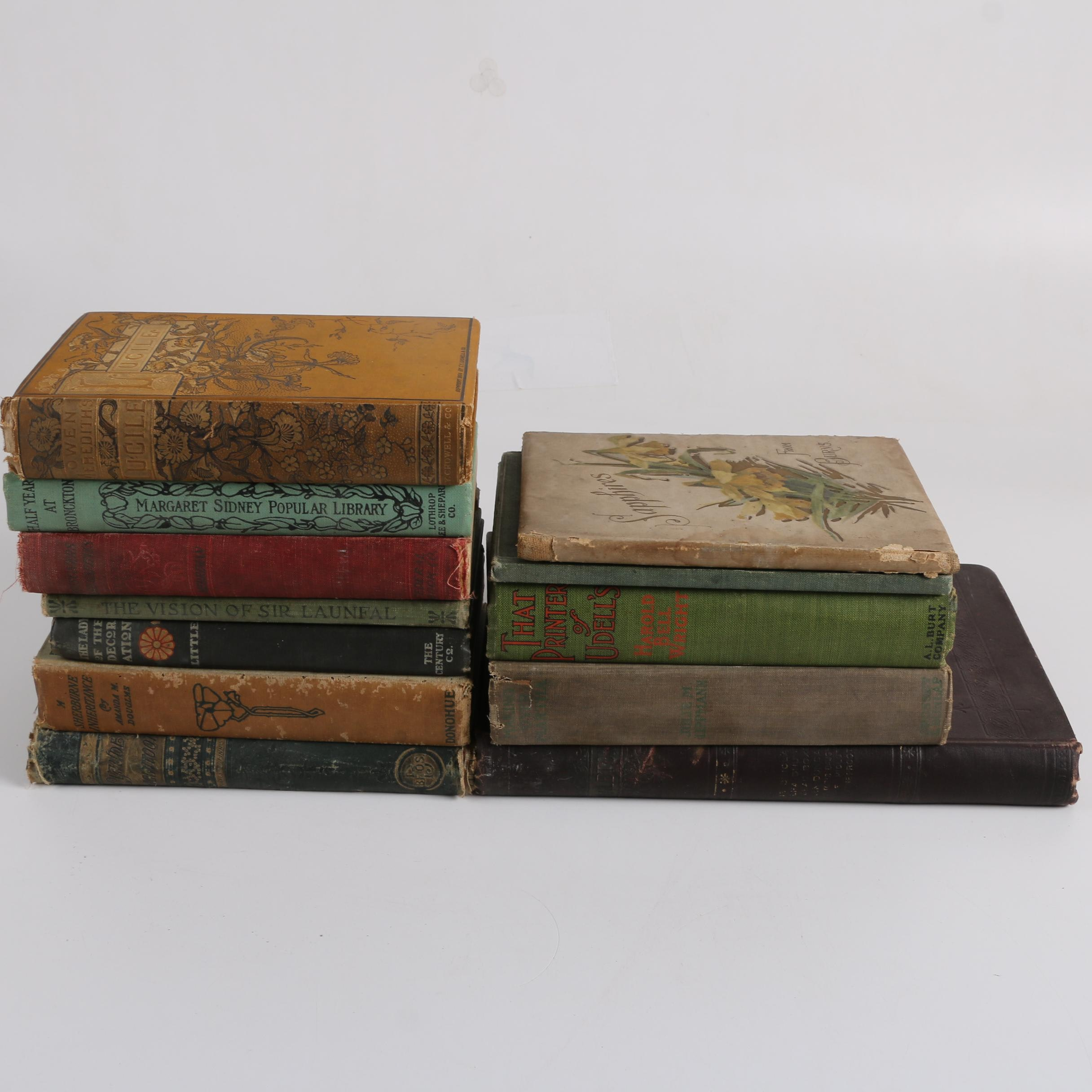 Antique Fiction and Poetry Books
