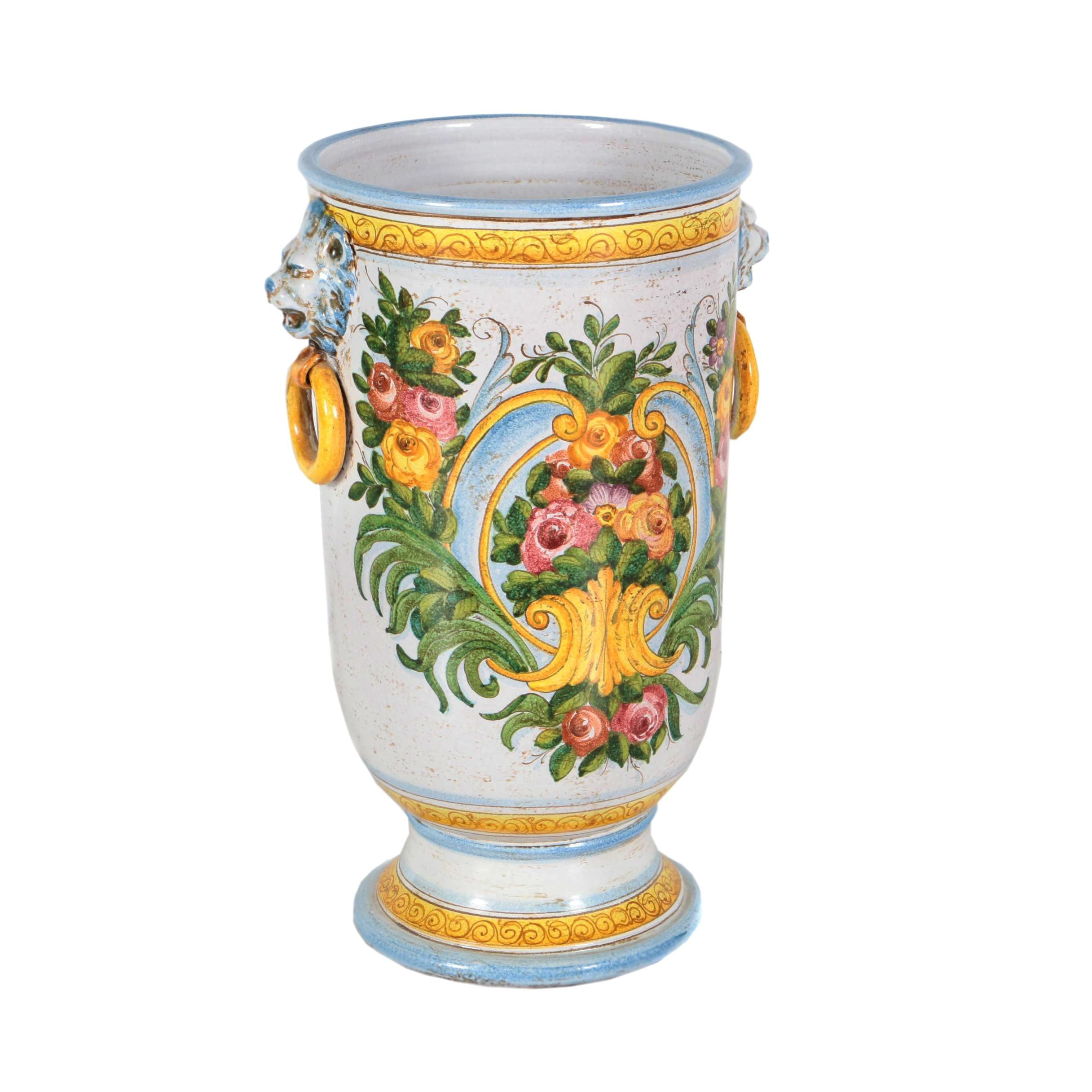 Hand-Painted Italianate Earthenware Planter