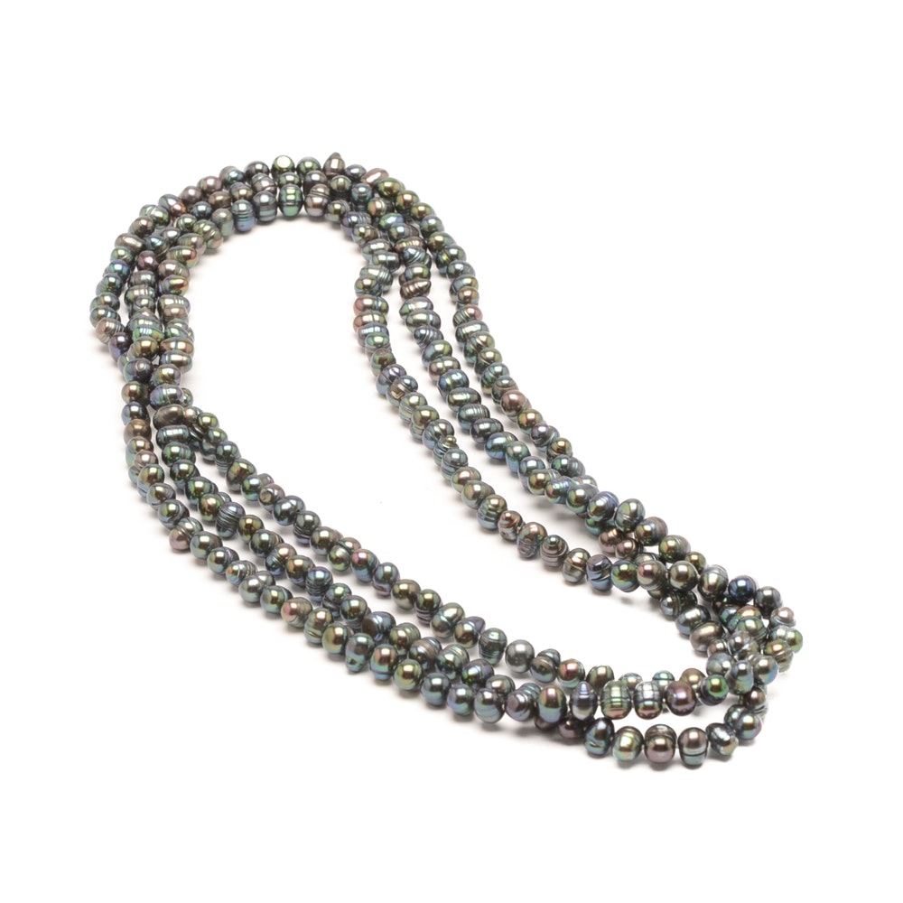 Cultured Dyed Freshwater Pearl Necklace Strand