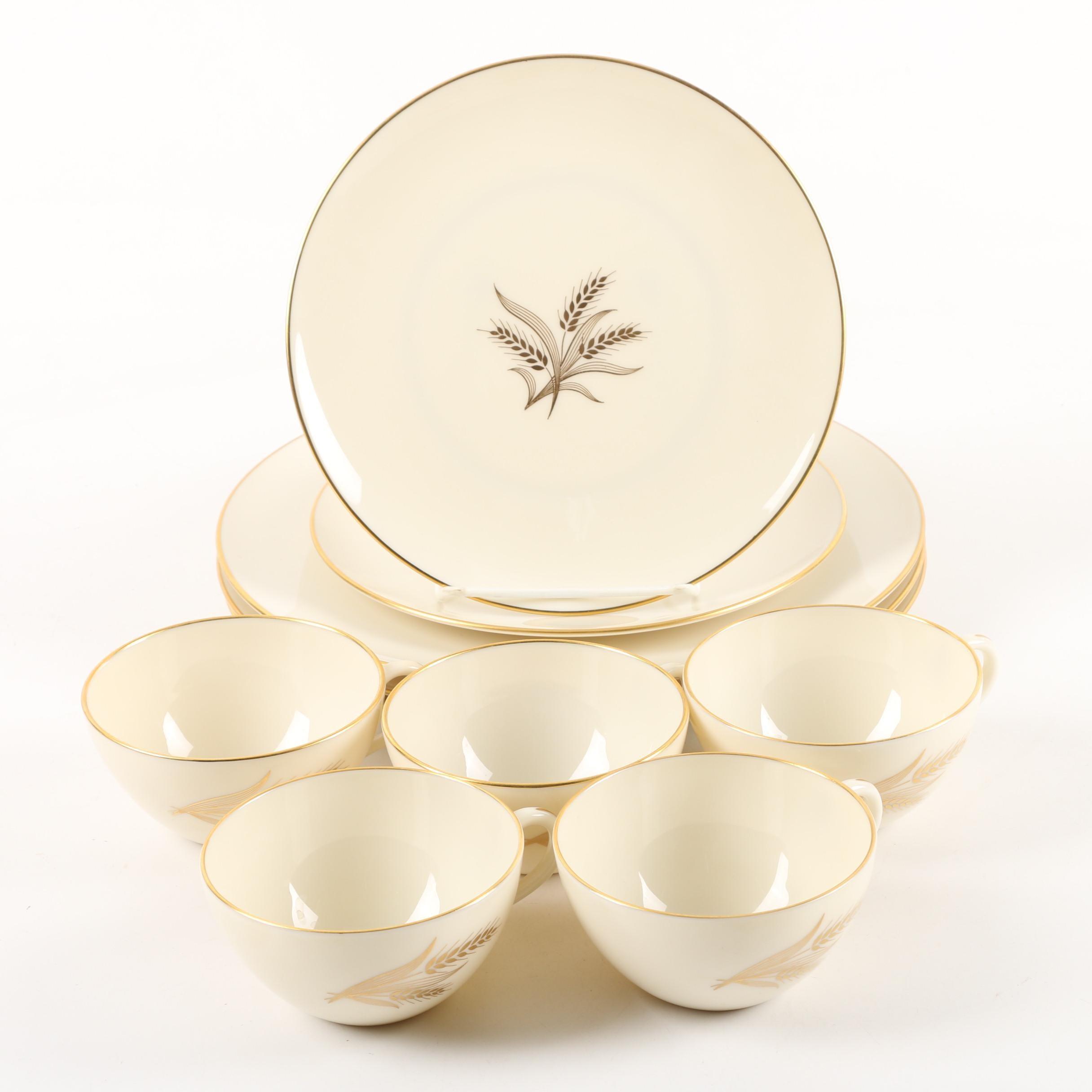 "Vintage Lenox ""Wheat"" Porcelain Tableware 1940-82"