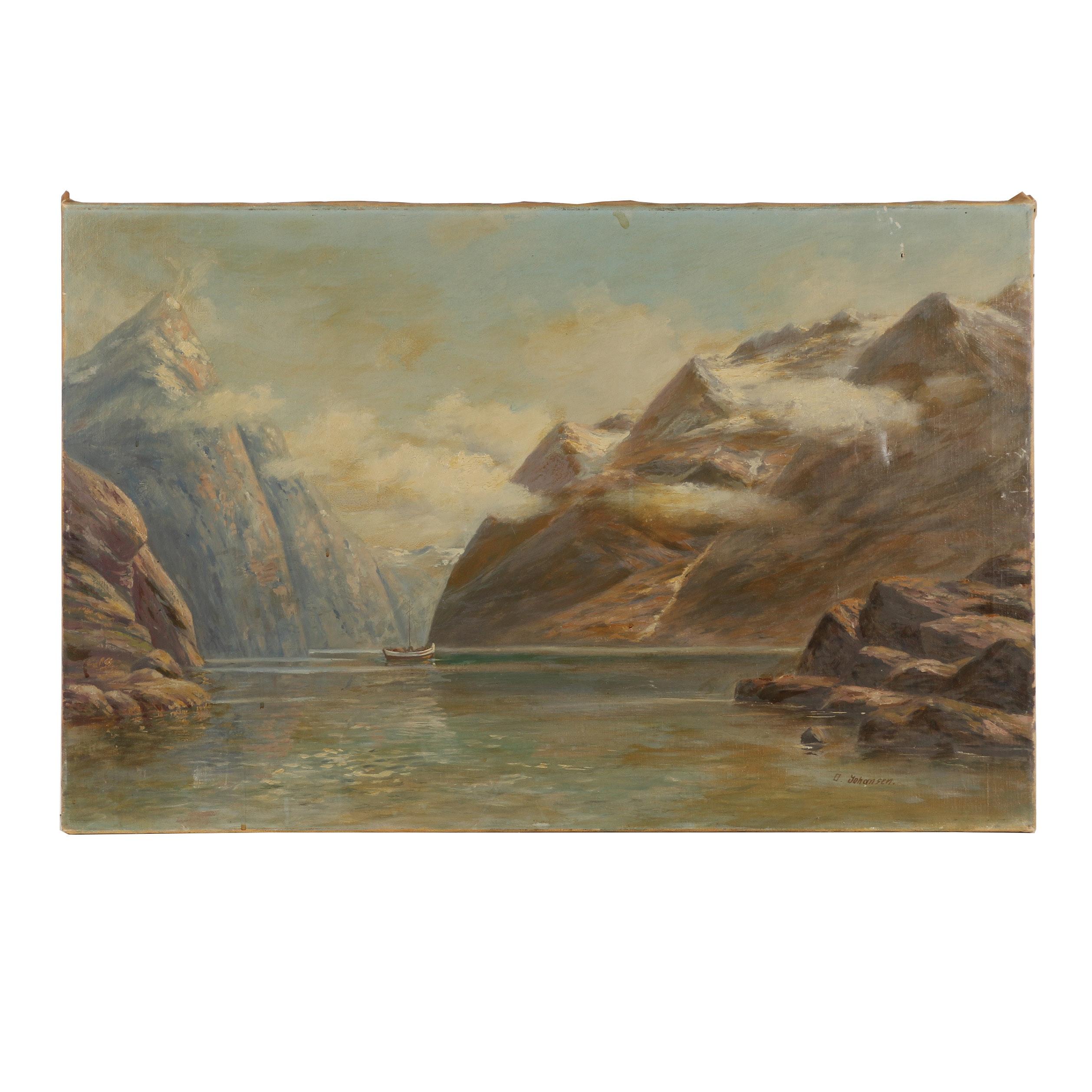 O. Johansen Oil Painting