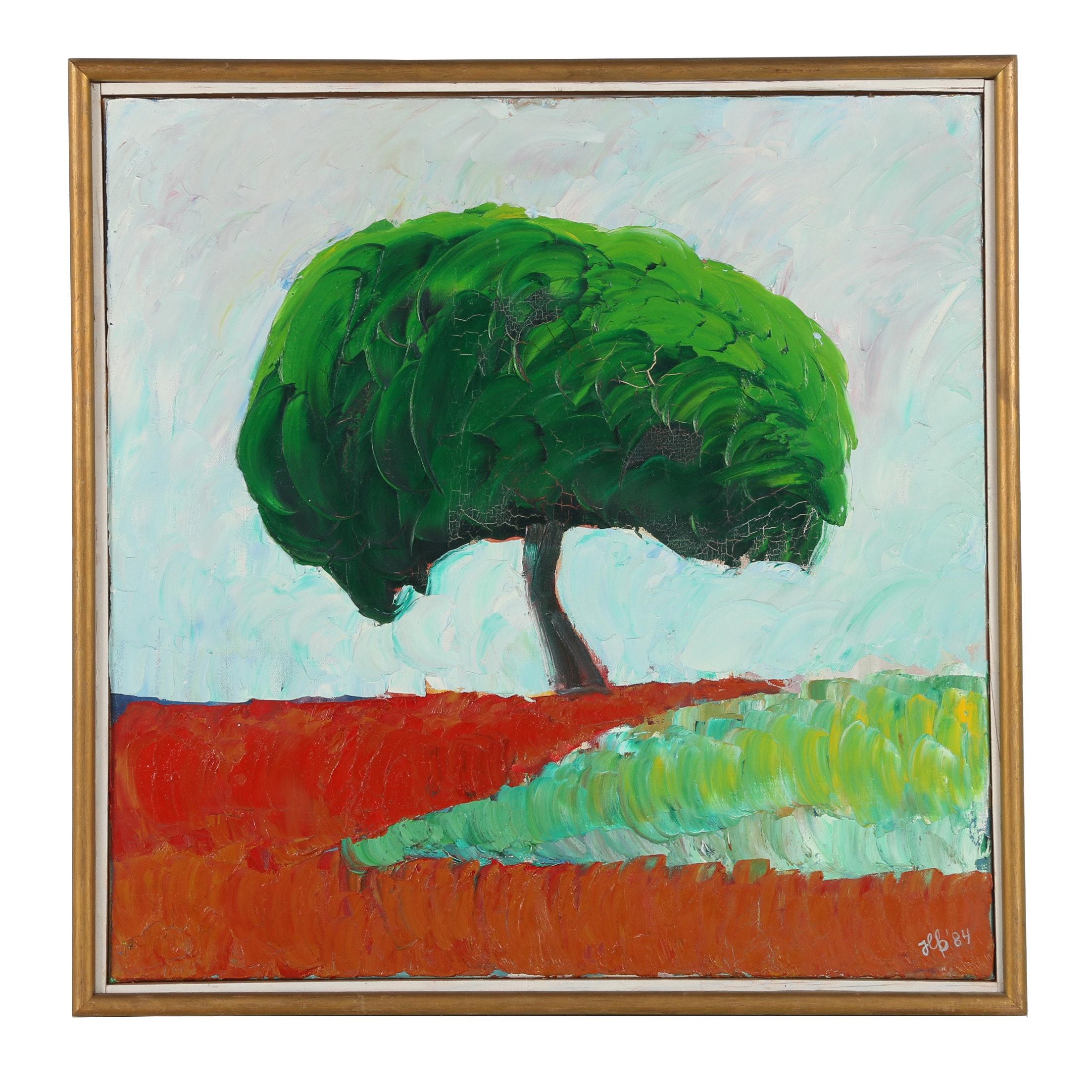 J. L. B. Oil Painting