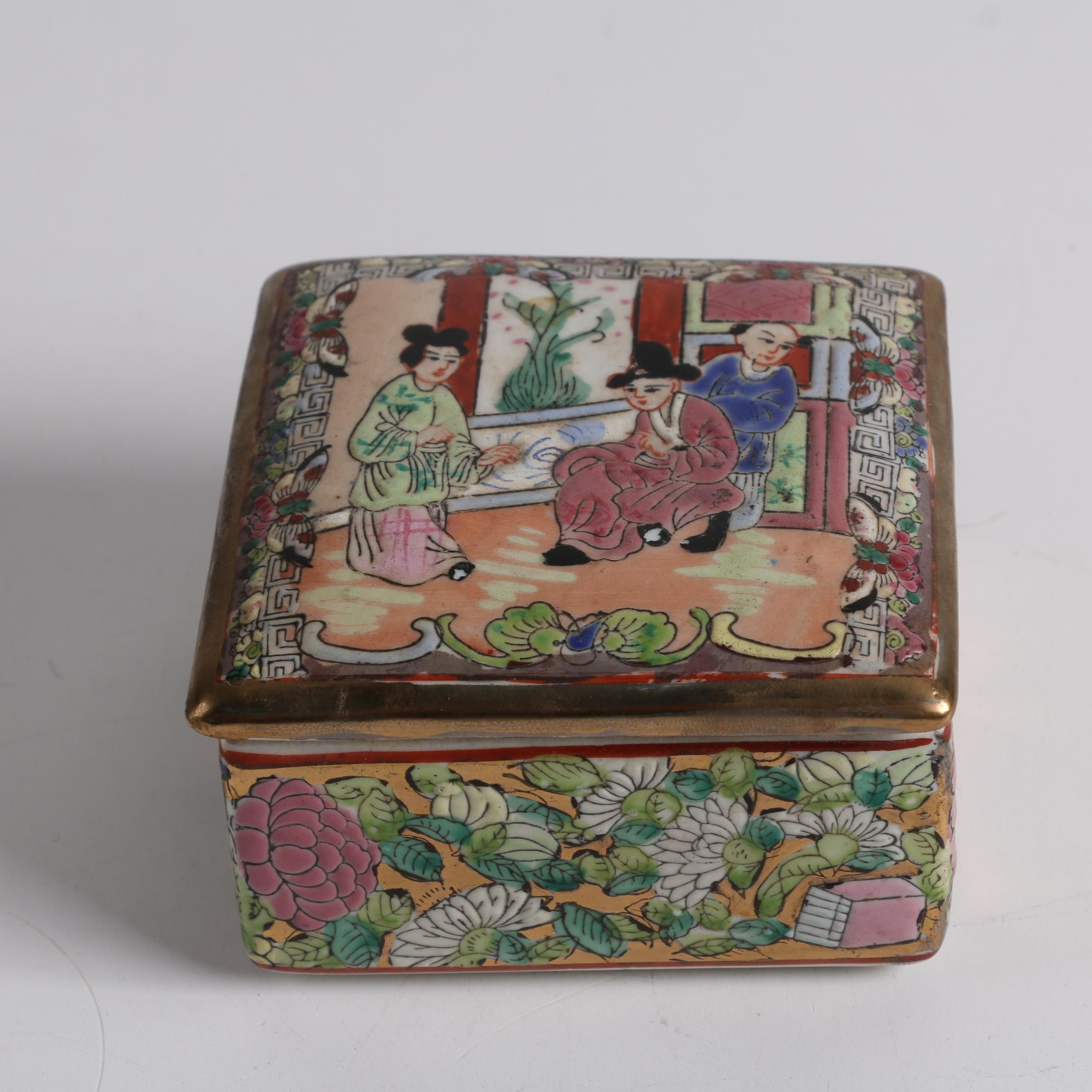 Chinese Hand-Painted Porcelain Trinket Box
