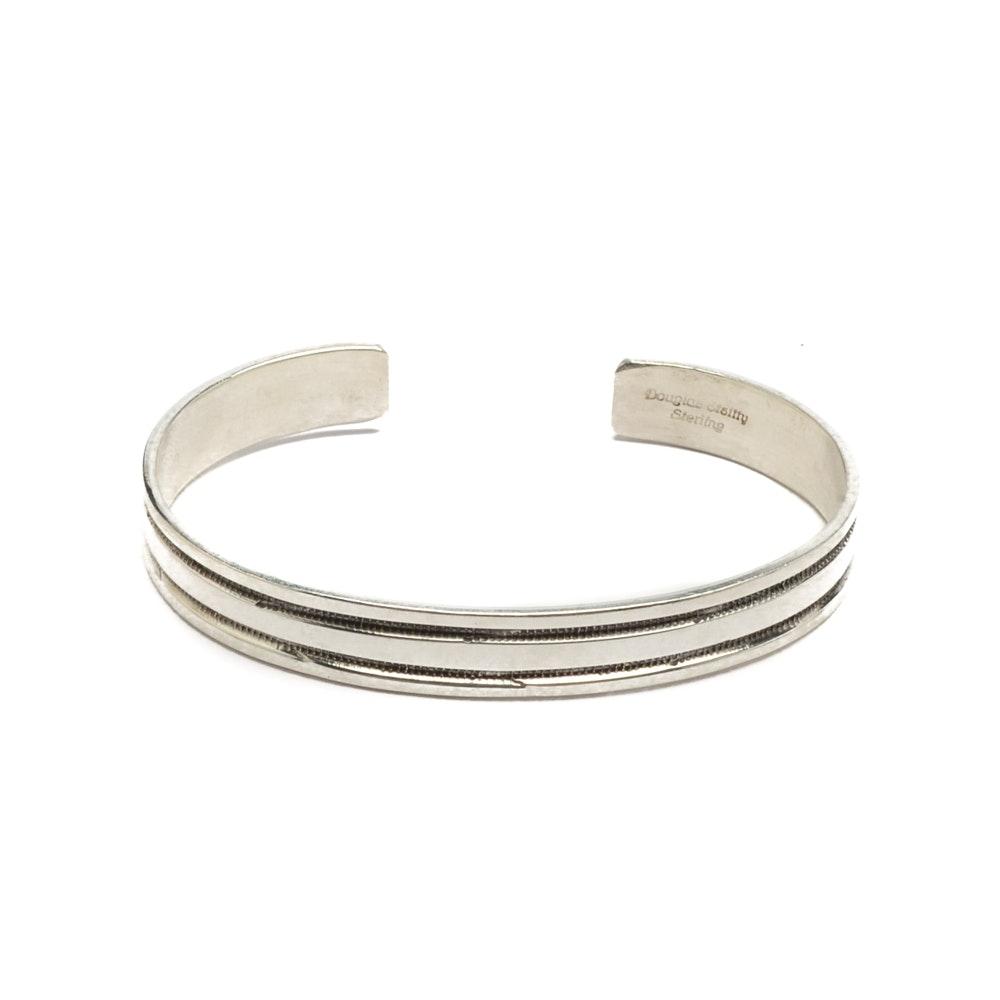 Douglas Etsitty Navajo Diné Sterling Silver Cuff Bracelet