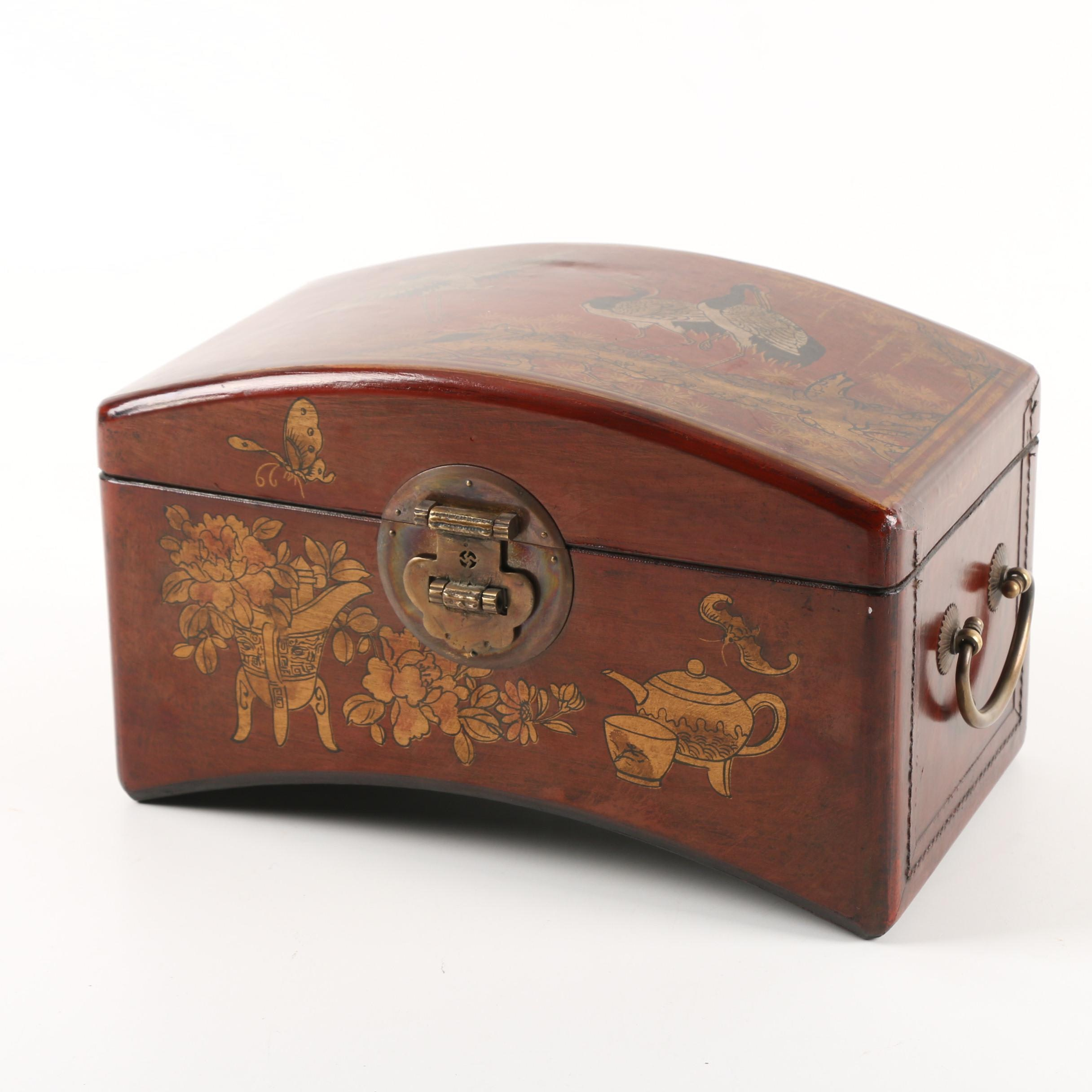 Vintage Chinese Painted Diminutive Chest