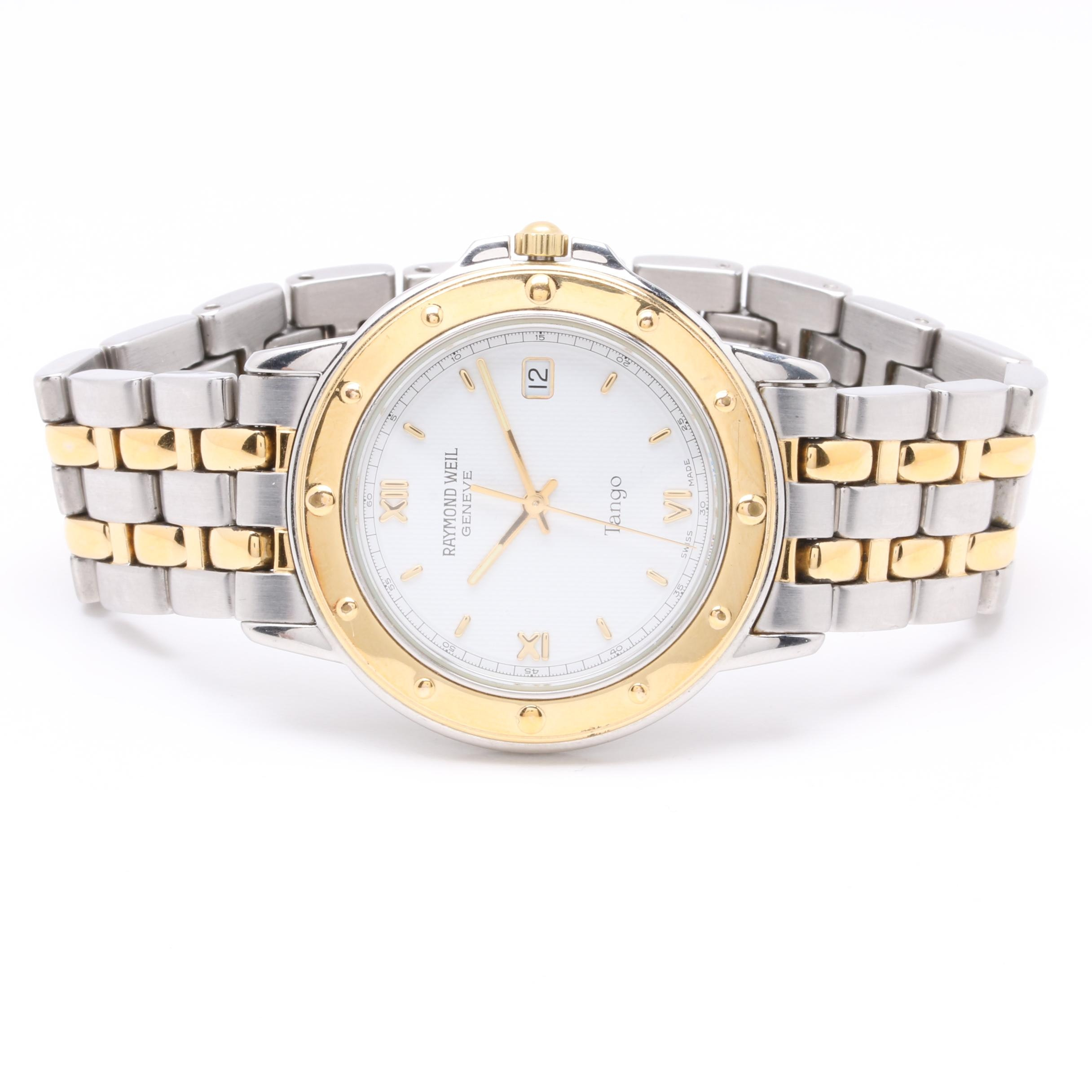 Raymond Weil Stainless Steel and Yellow PVD Plated Wristwatch