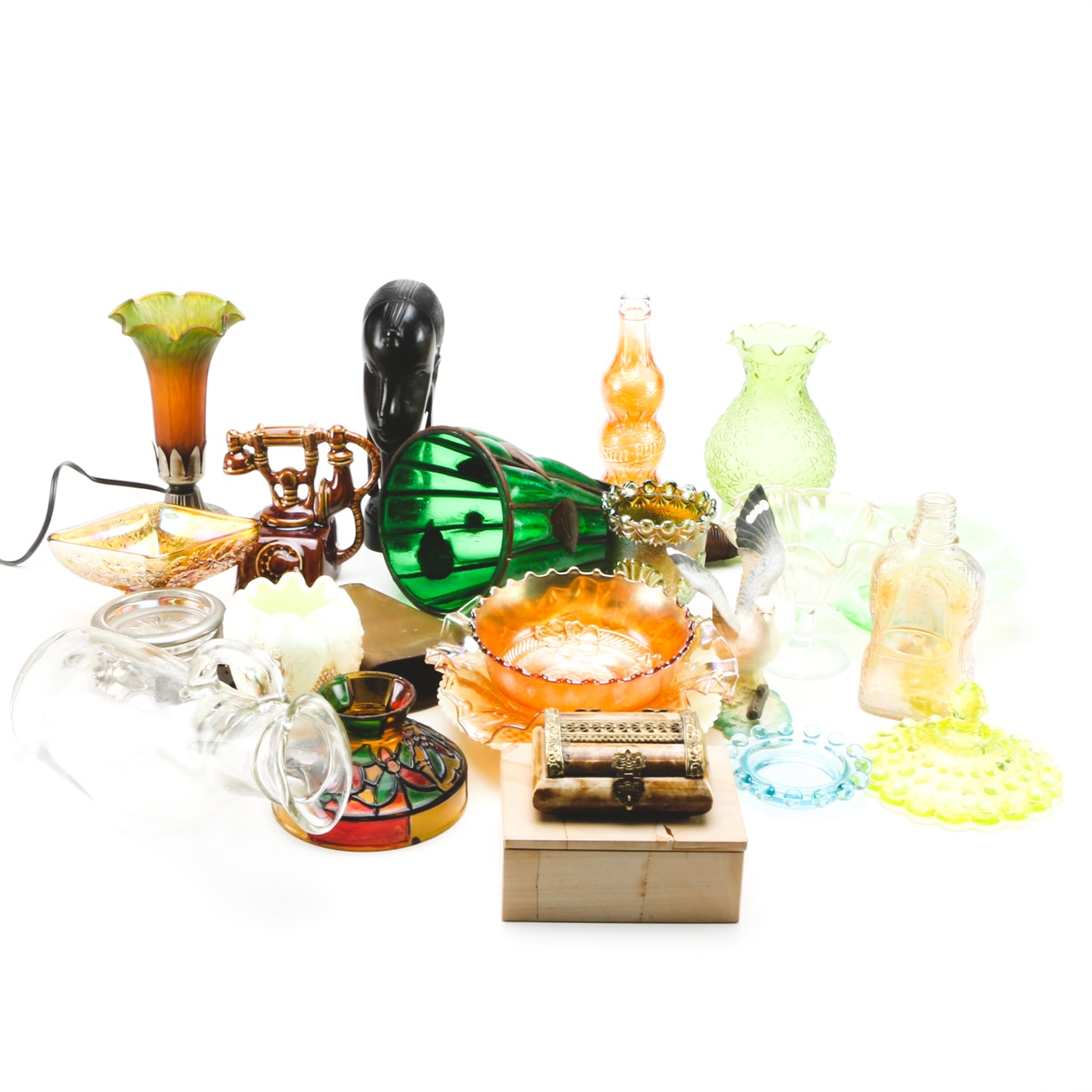 Assorted Mid-Century and Contemporary Art Glass and Pottery