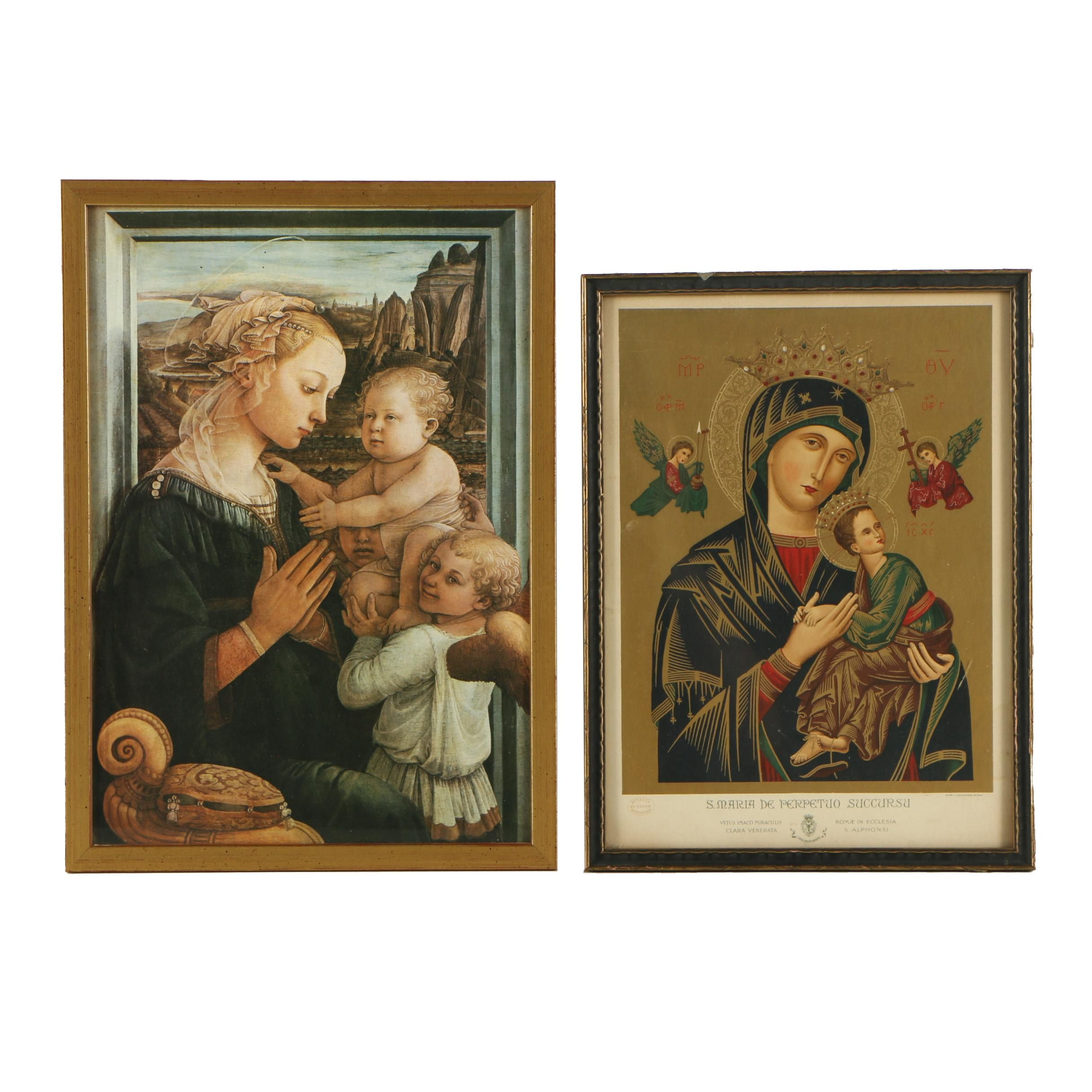 Two Mother and Child Prints