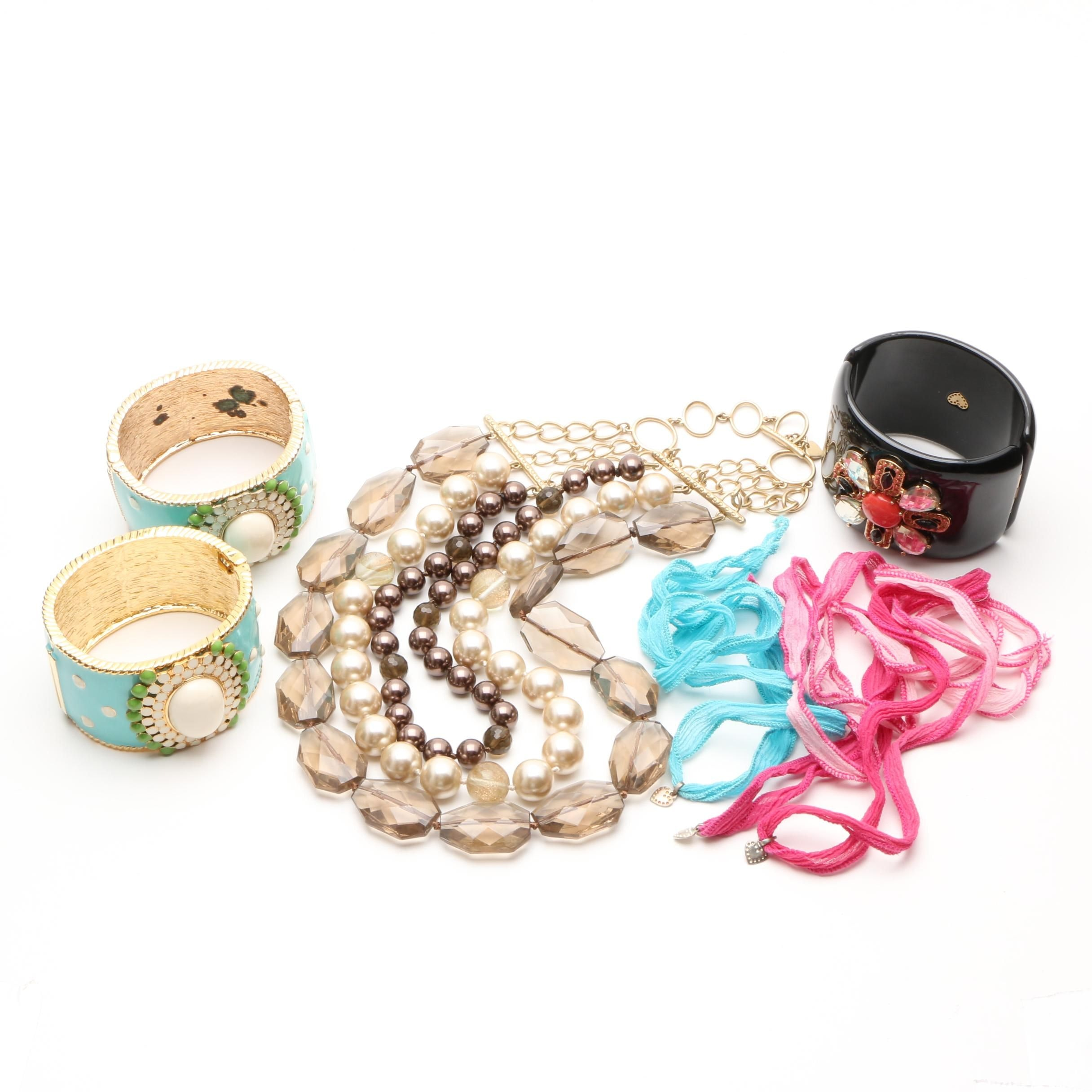 Stella and Dot Necklaces and Bracelets Including Enamel, Glass, and Resin