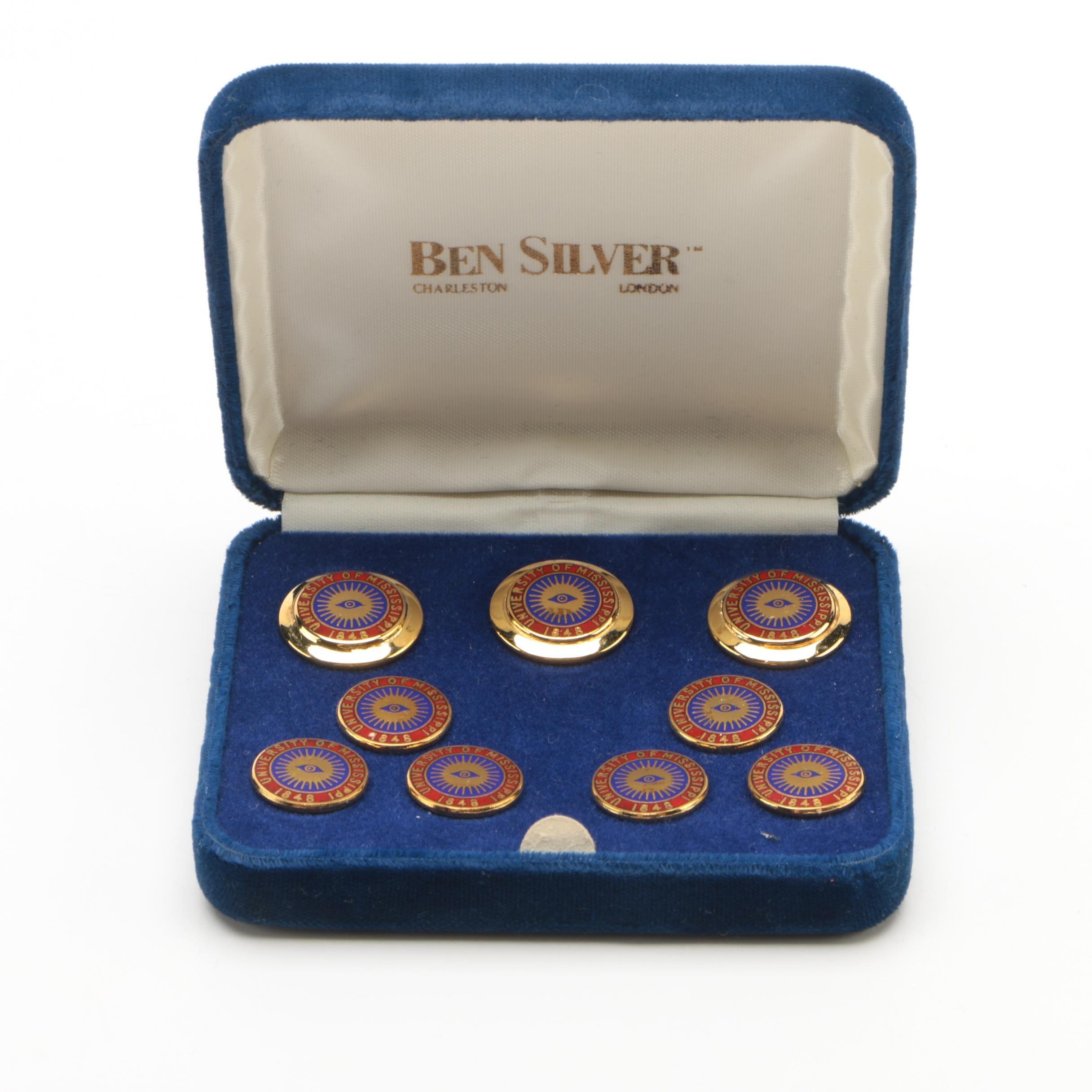 Ben Silver University of Mississippi Blazer Button Set