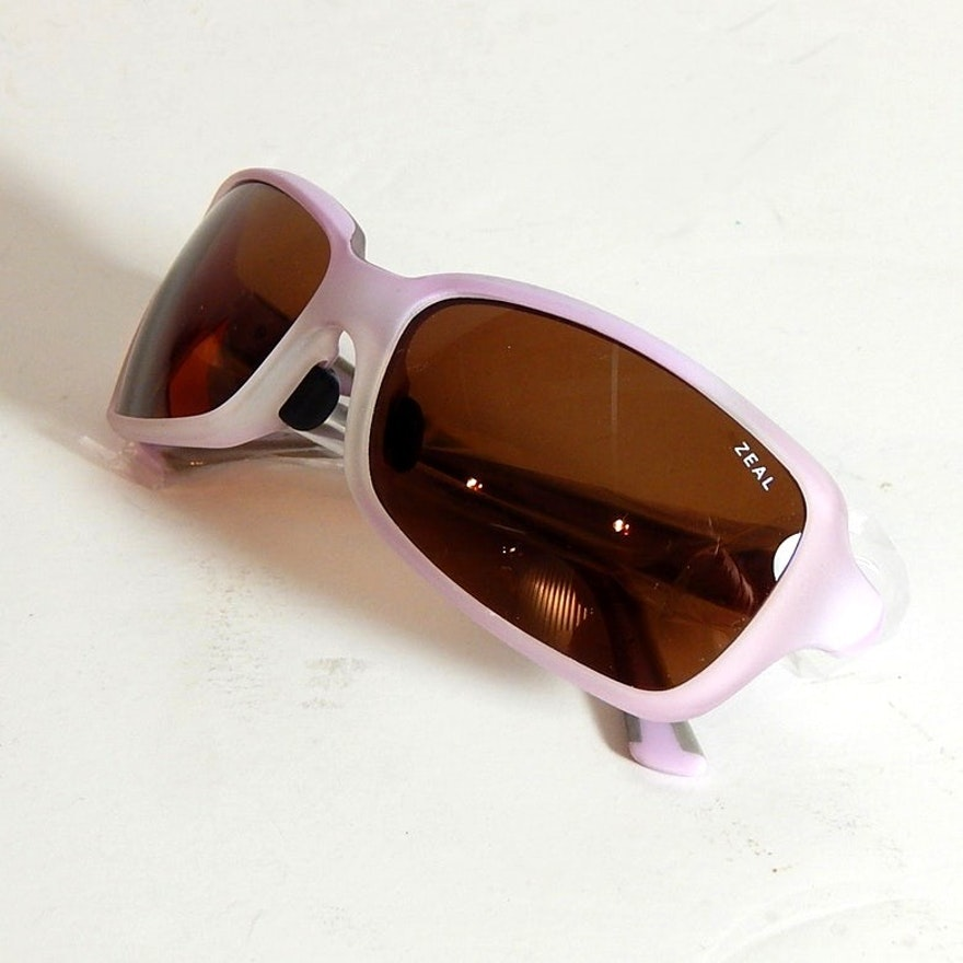 "Zeal Lavender and Gray ""Zeta"" Polarized Sunglasses"