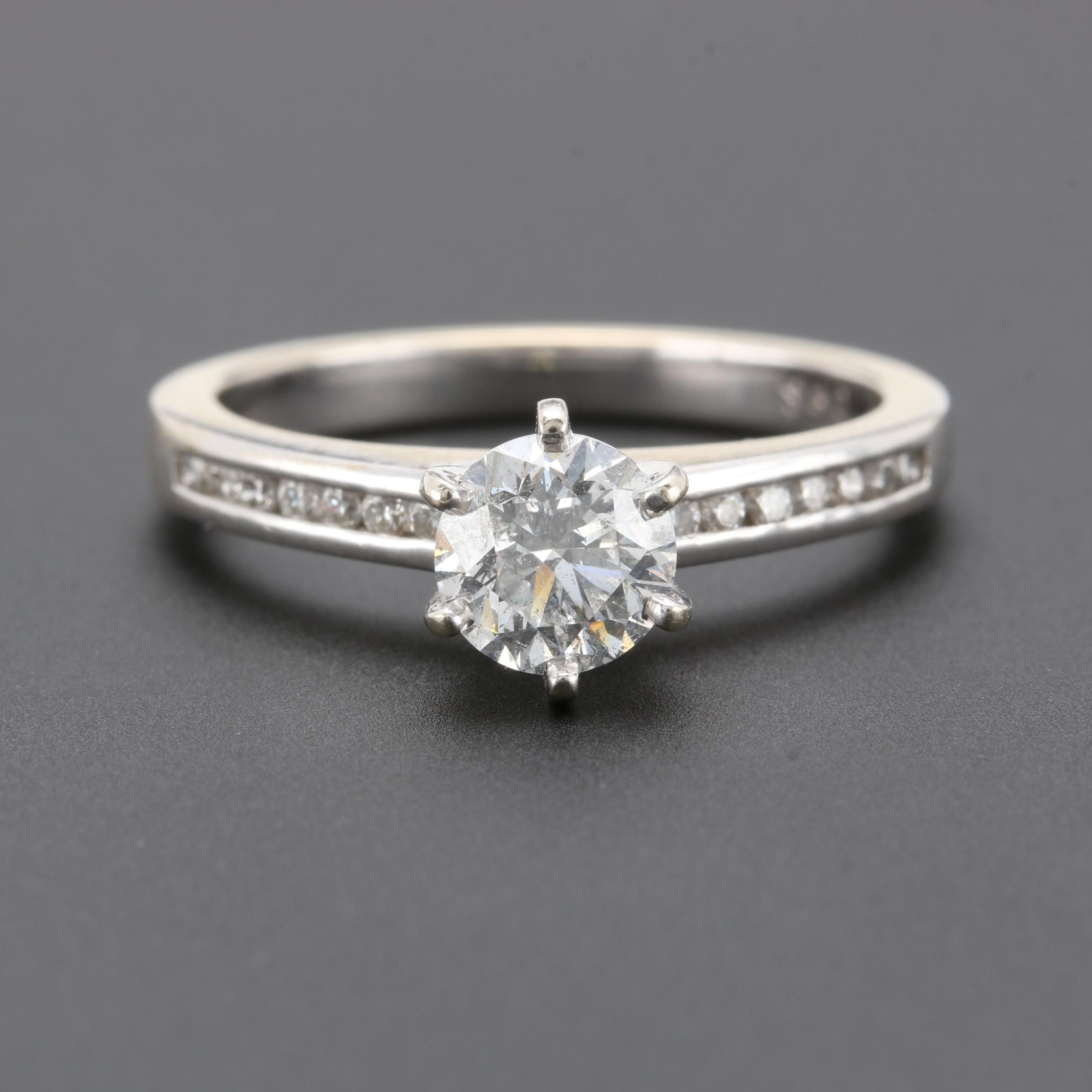 14K and 18K White Gold 1.23 CTW Diamond Ring