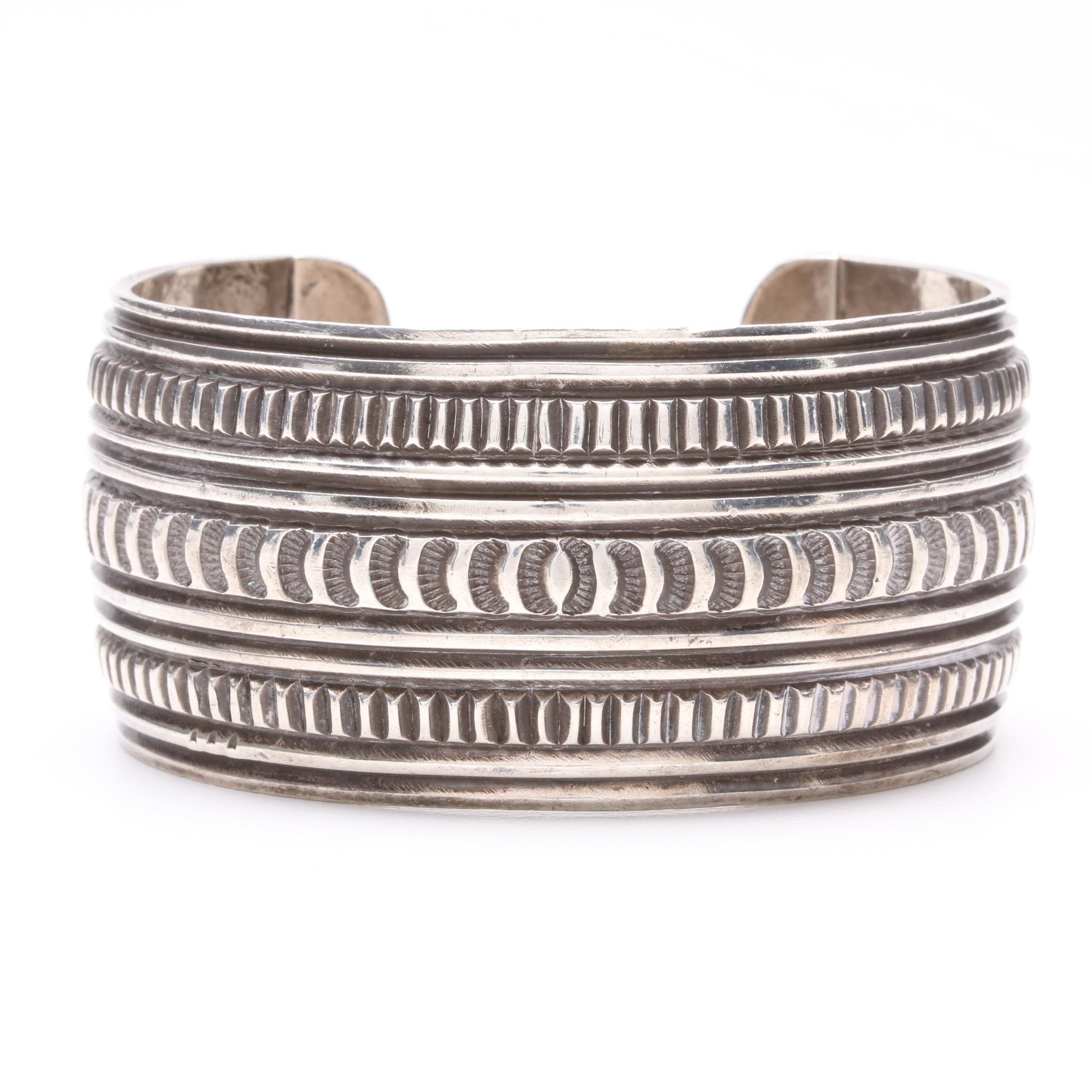Sunshine Reeves Navajo Diné Sterling Silver Cuff Bracelet