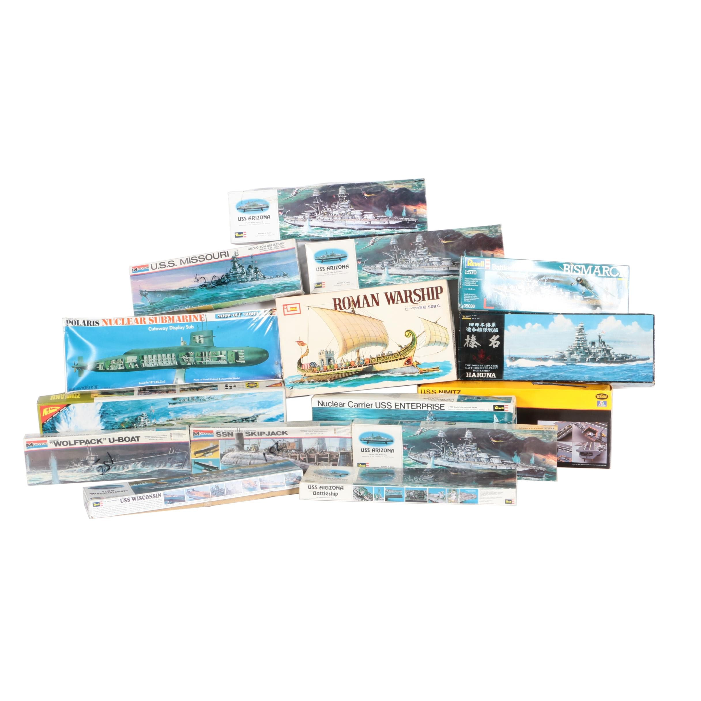 Military Battleship Model Kits Including Monogram