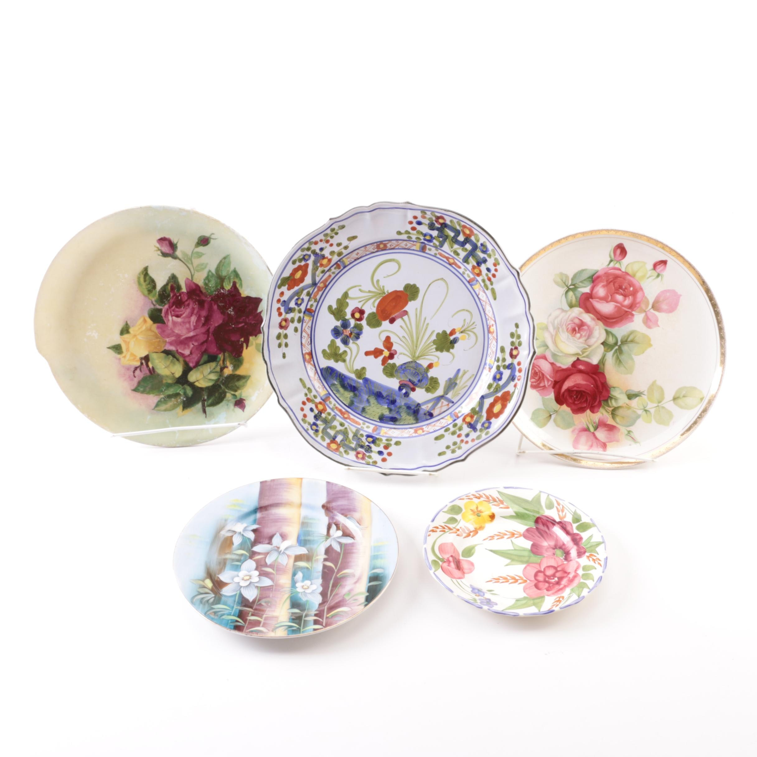 Decorative Plates Including Italian Faience in the Style of Doccia