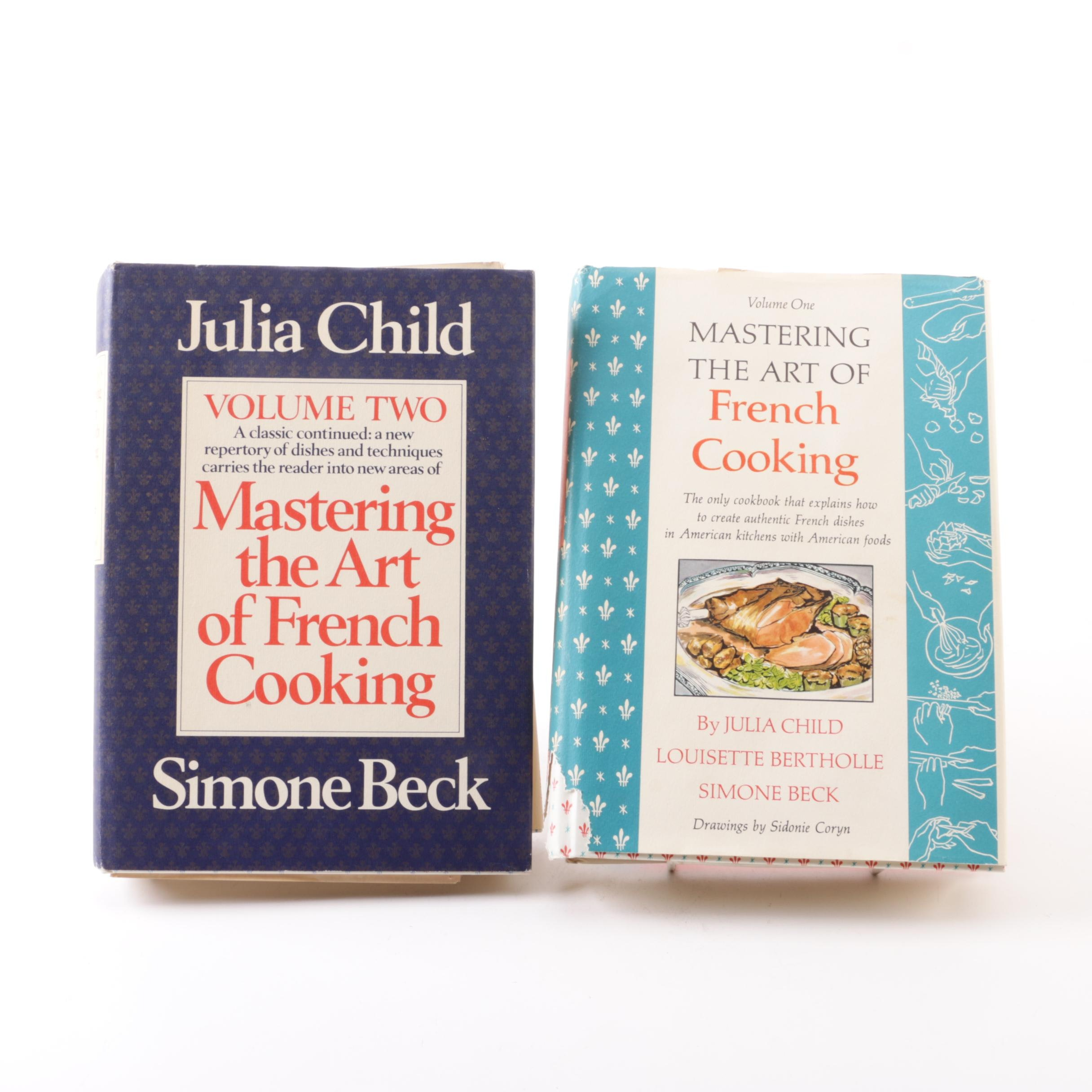 """1970s Signed Volumes of """"Mastering the Art of French Cooking"""" by Julia Child"""