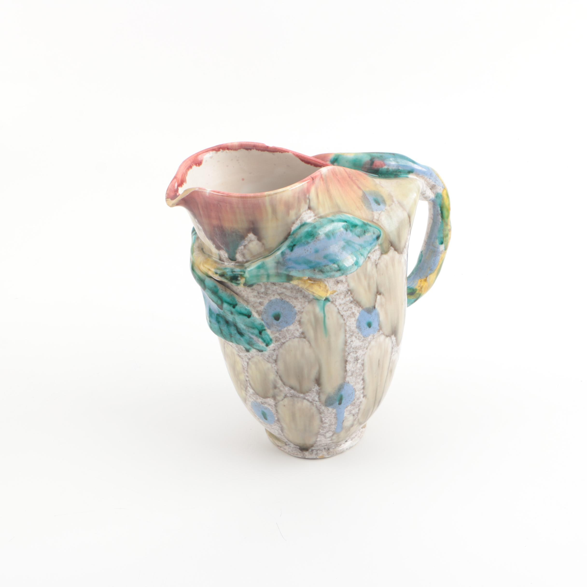 Vintage Italian Art Pottery Pitcher