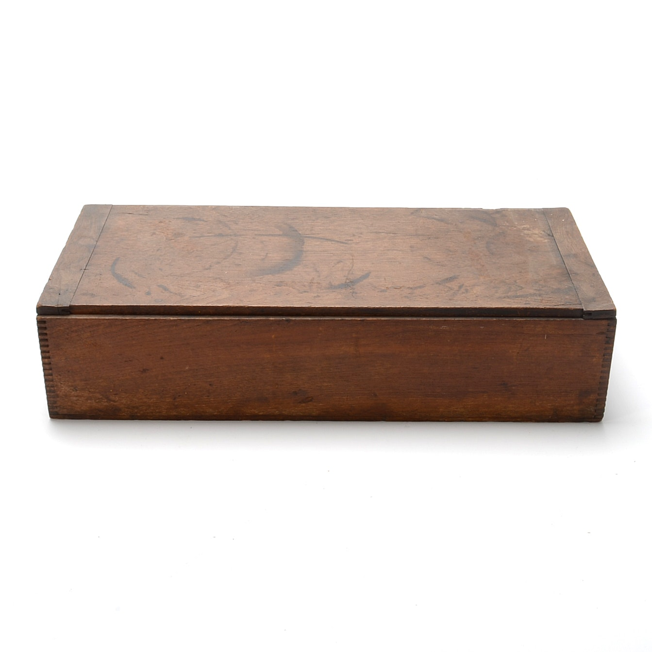 Antique Dovetailed Walnut Divided Box