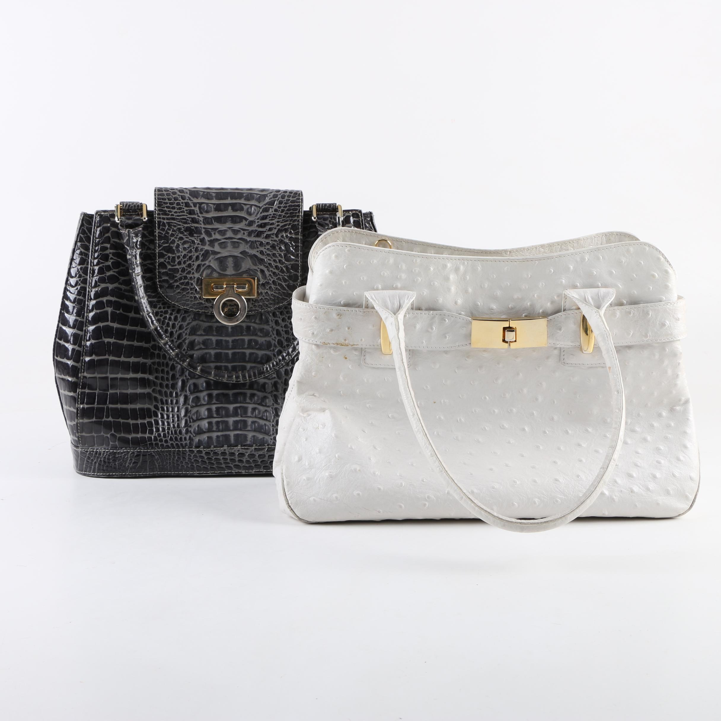 Piero Acutis and Stefano Bravo Embossed Leather Handbags