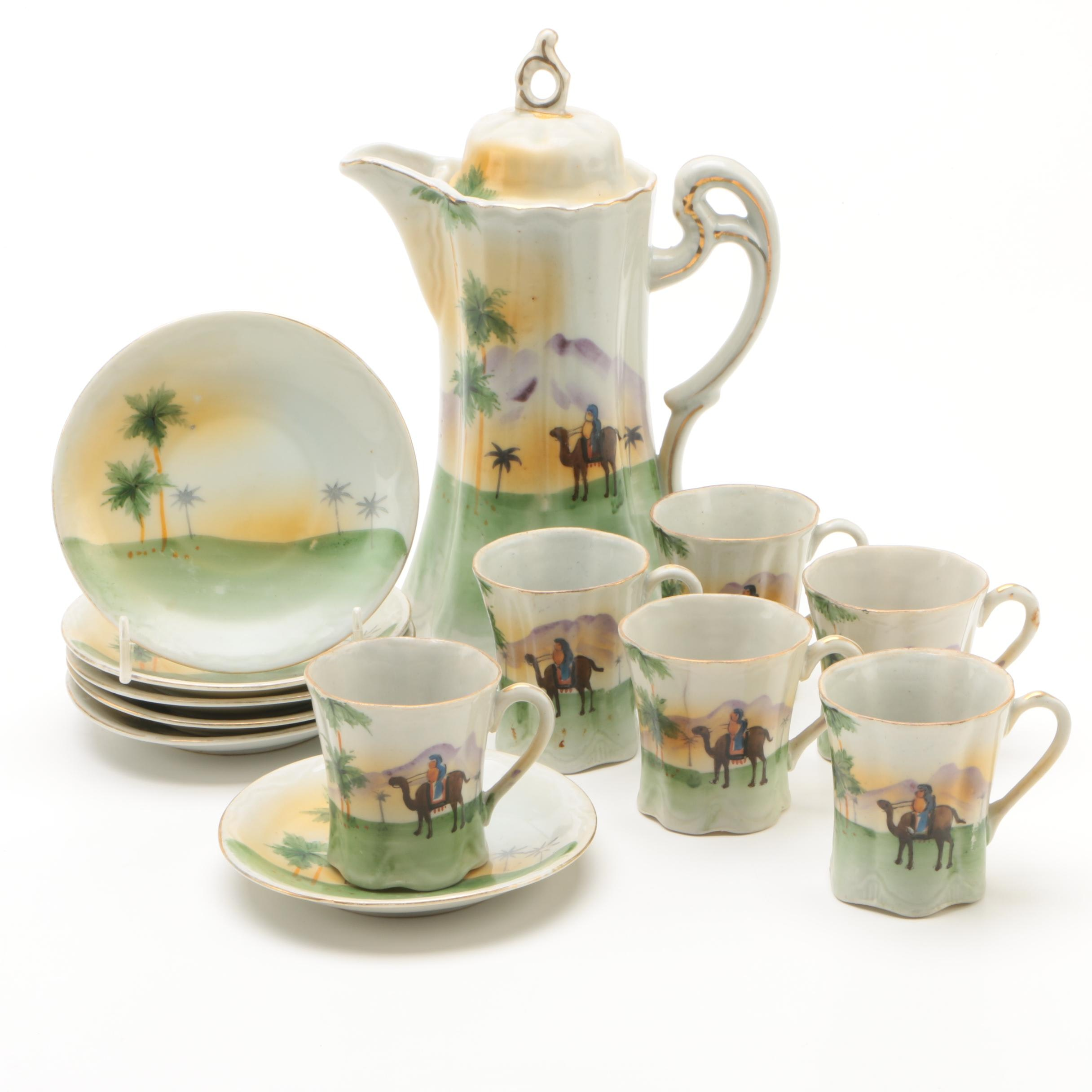 Japanese Hand-Painted Porcelain Chocolate Service