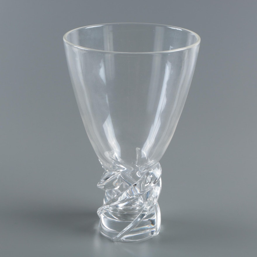 Steuben Crystal Whirlpool Vase Ebth