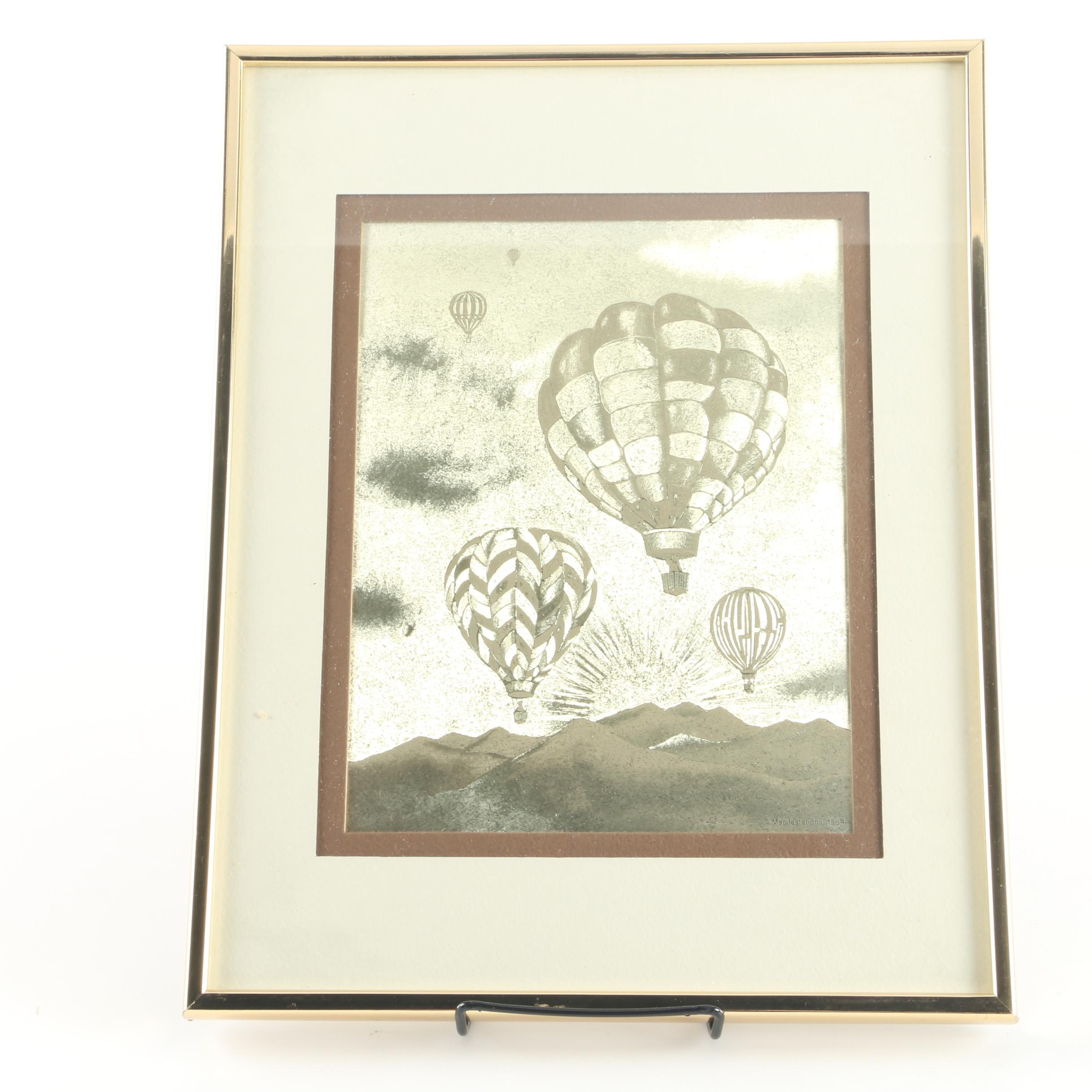 Manifestations Inc. Optical Illusionary Art Featuring Hot Air Balloons