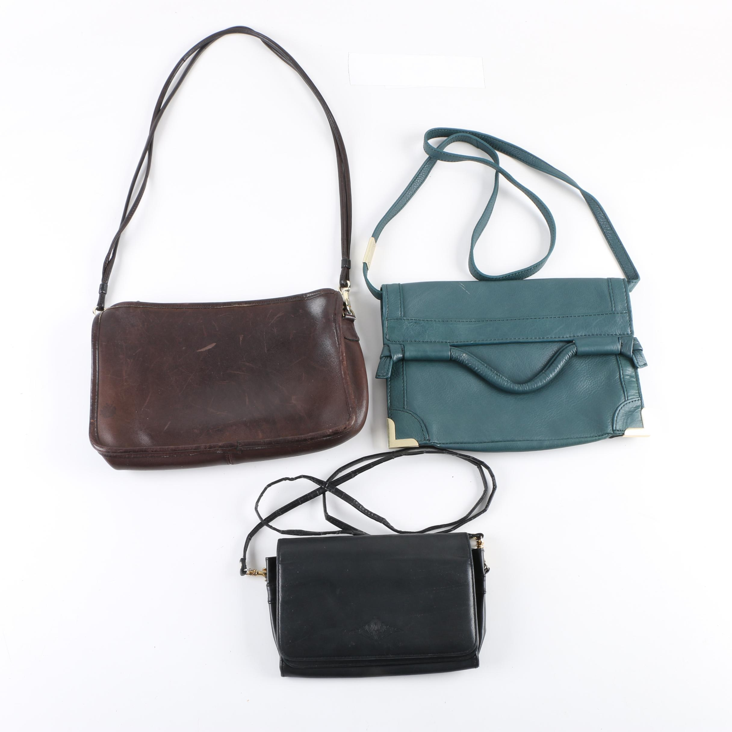 Vintage and Contemporary Leather Handbags Including Coach