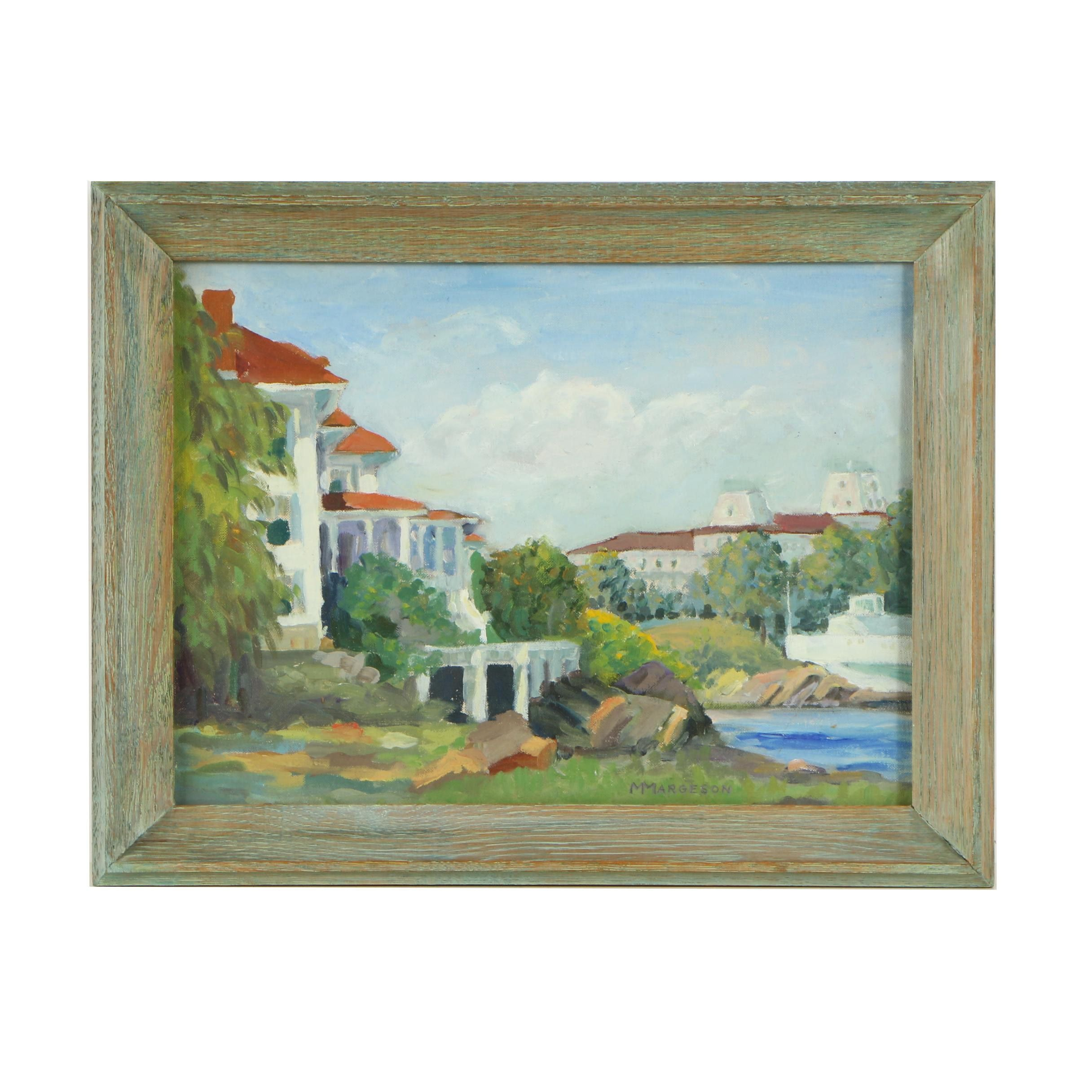 M. Margeson Oil Painting of Villas