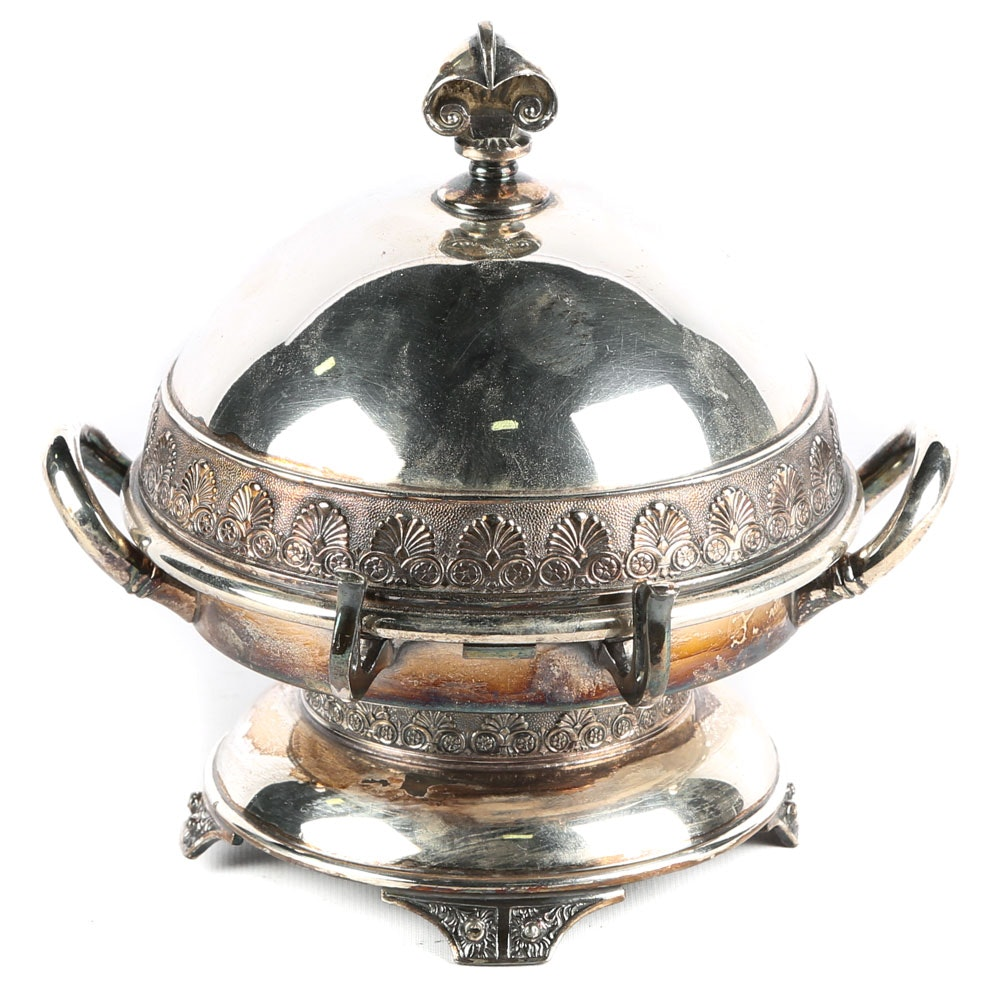 Antique Domed Butter Dish by Wilcox