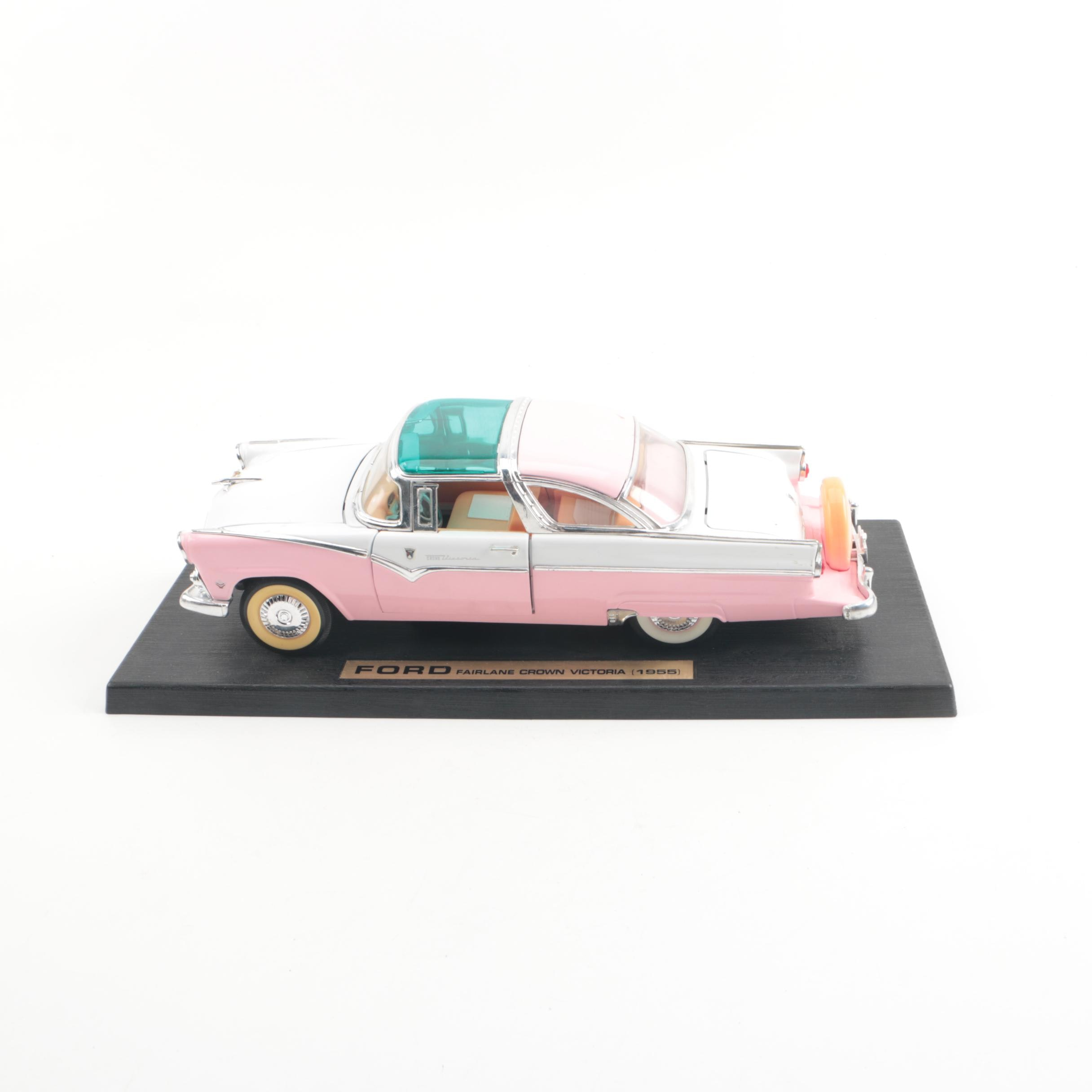 1955 Ford Fairlane Crown Victoria Die-Cast Car with Stand by Road Legends