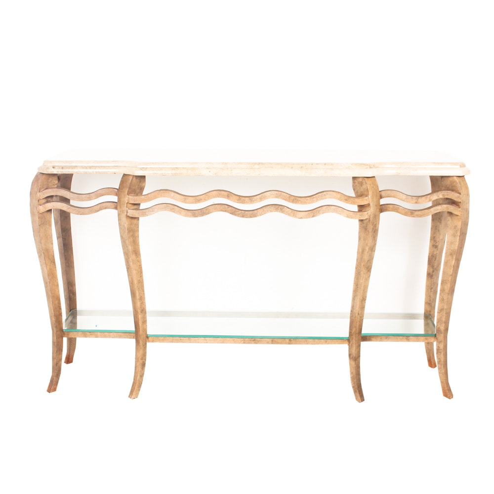 Marble Topped Hall Table