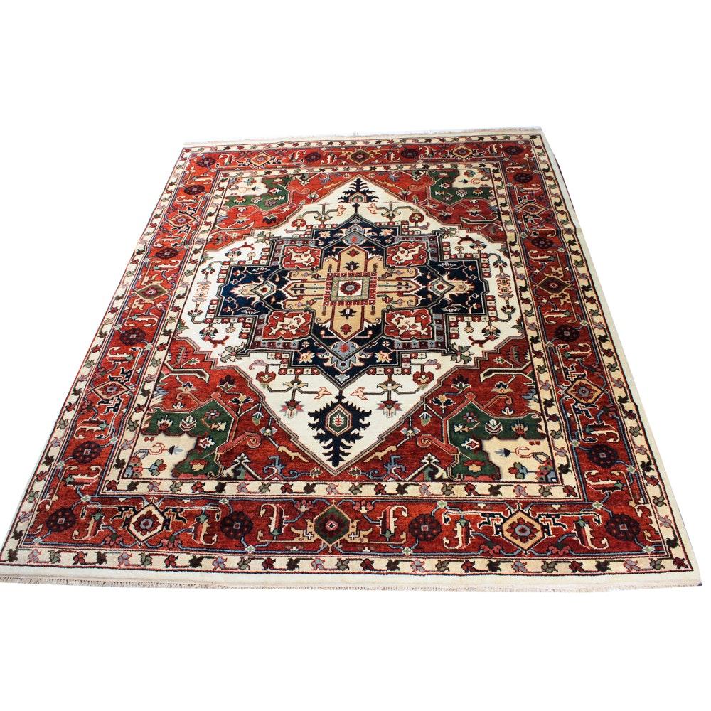 7'11 x 9'8 Hand-Knotted Persian Bakhshayesh Heriz Rug
