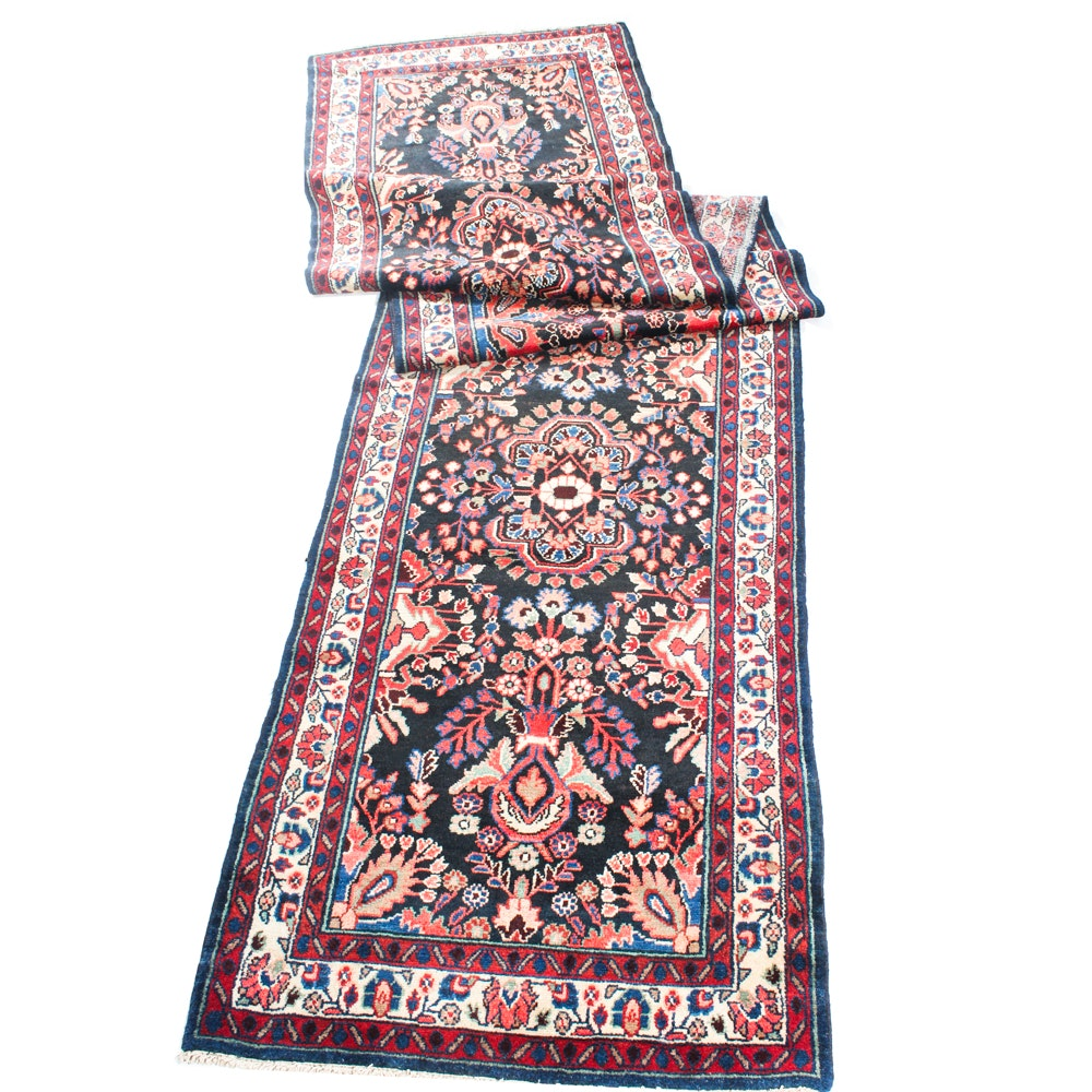 3'8 x 16'7 Vintage Hand-Knotted Persian Malayer Sarouk Rug