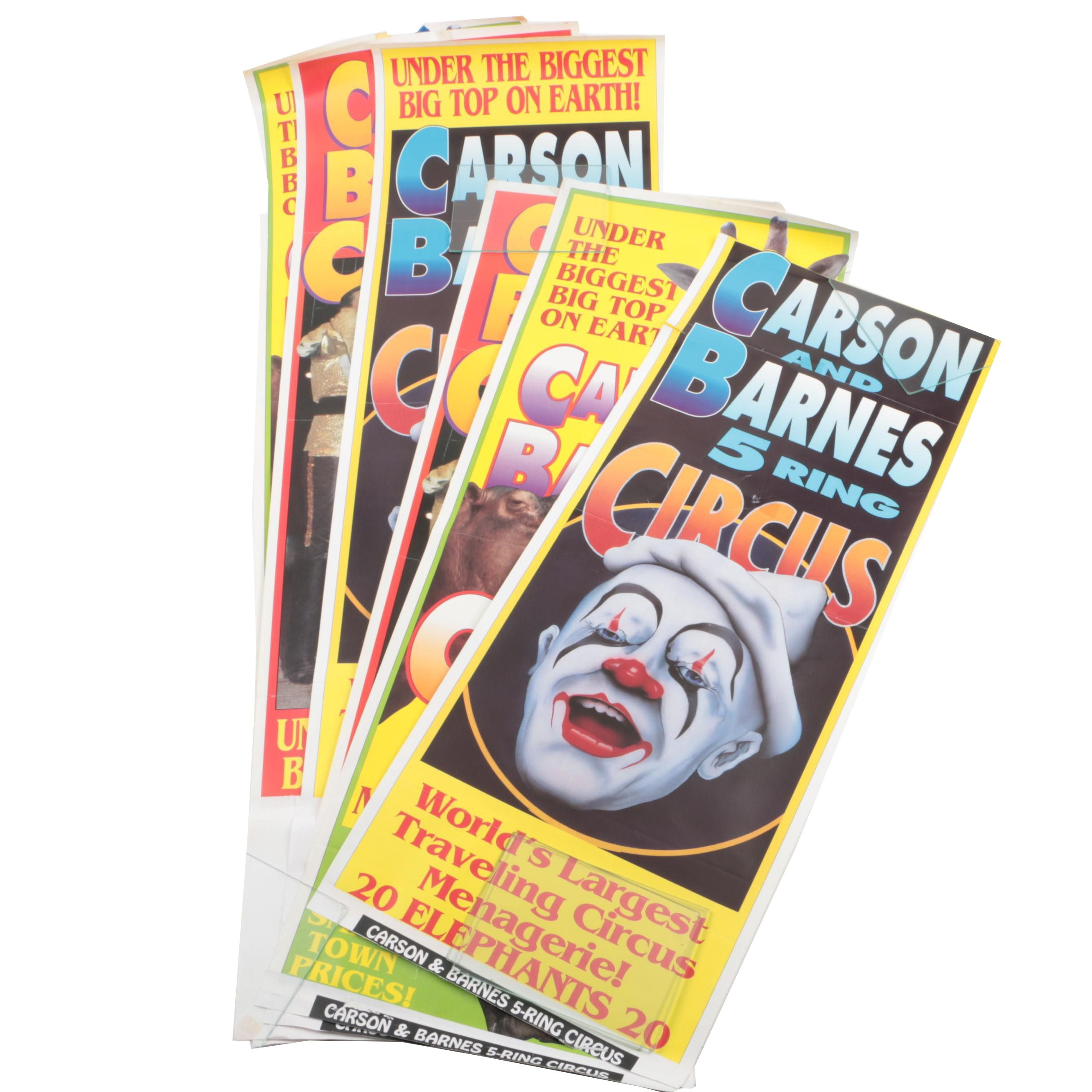 """Assortment of Six """"Carson and Barnes"""" Circus Posters"""