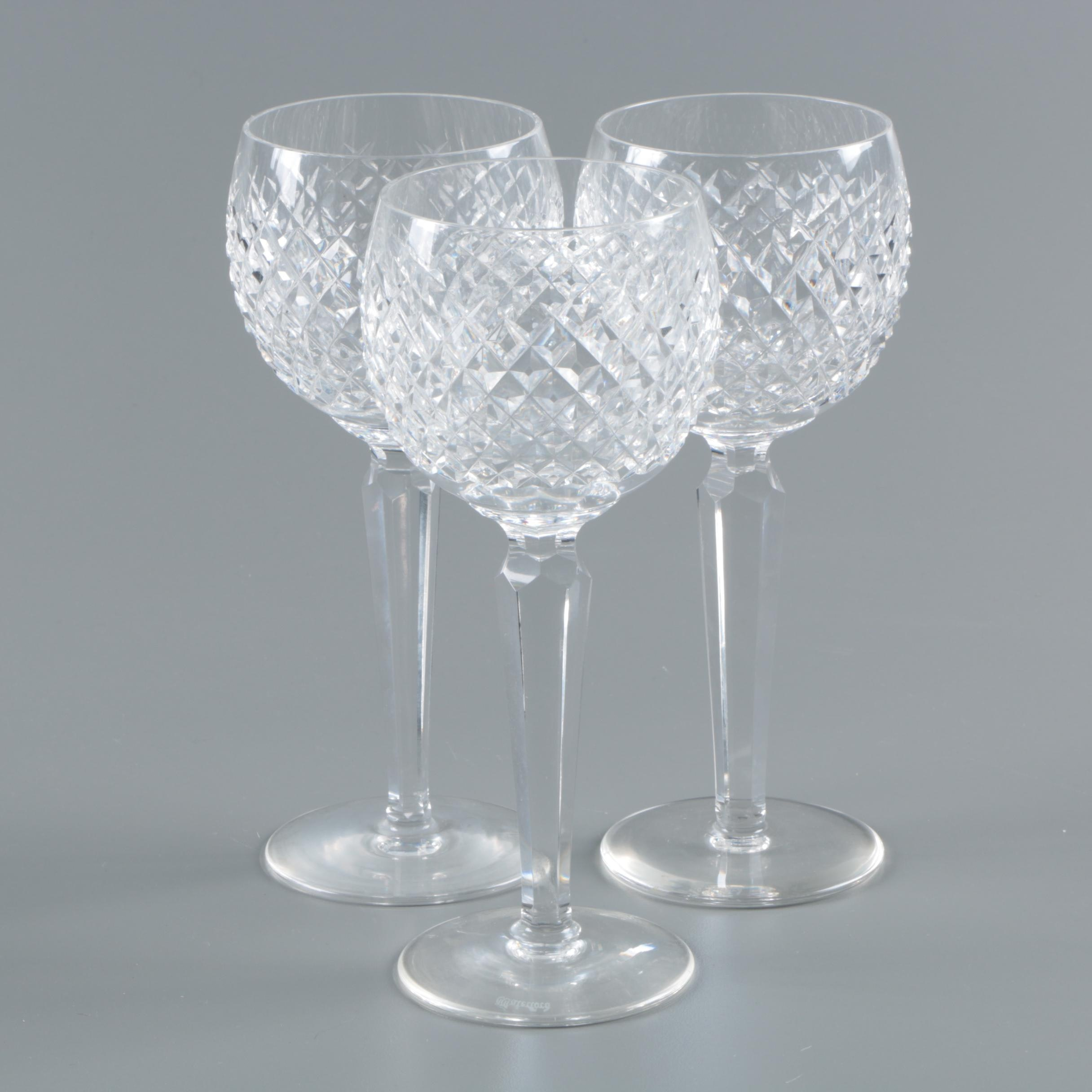 "Waterford Crystal ""Alana"" Wine Hocks"
