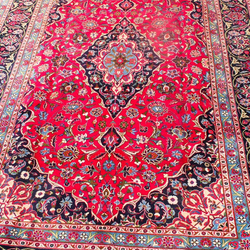 7'10 x 11'5 Hand-Knotted Persian Kashan Rug
