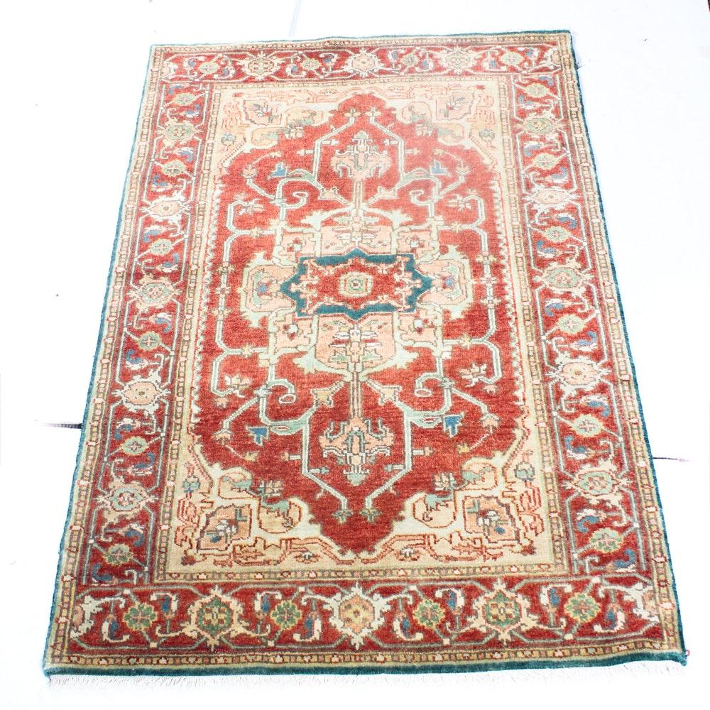 4' x 6'5 Vintage Hand-Knotted Persian Bakhshayesh Heriz Rug